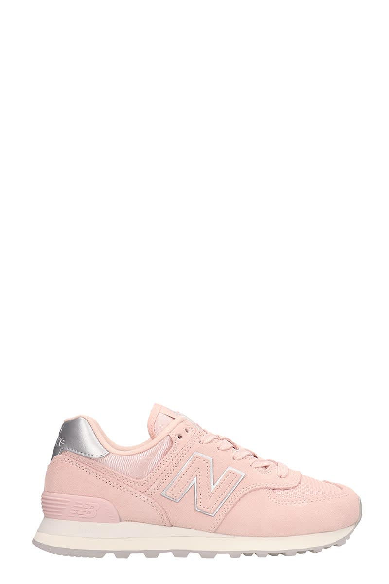 uk availability e857b b12c4 New Balance Pink Suede And Fabric 574 Sneakers