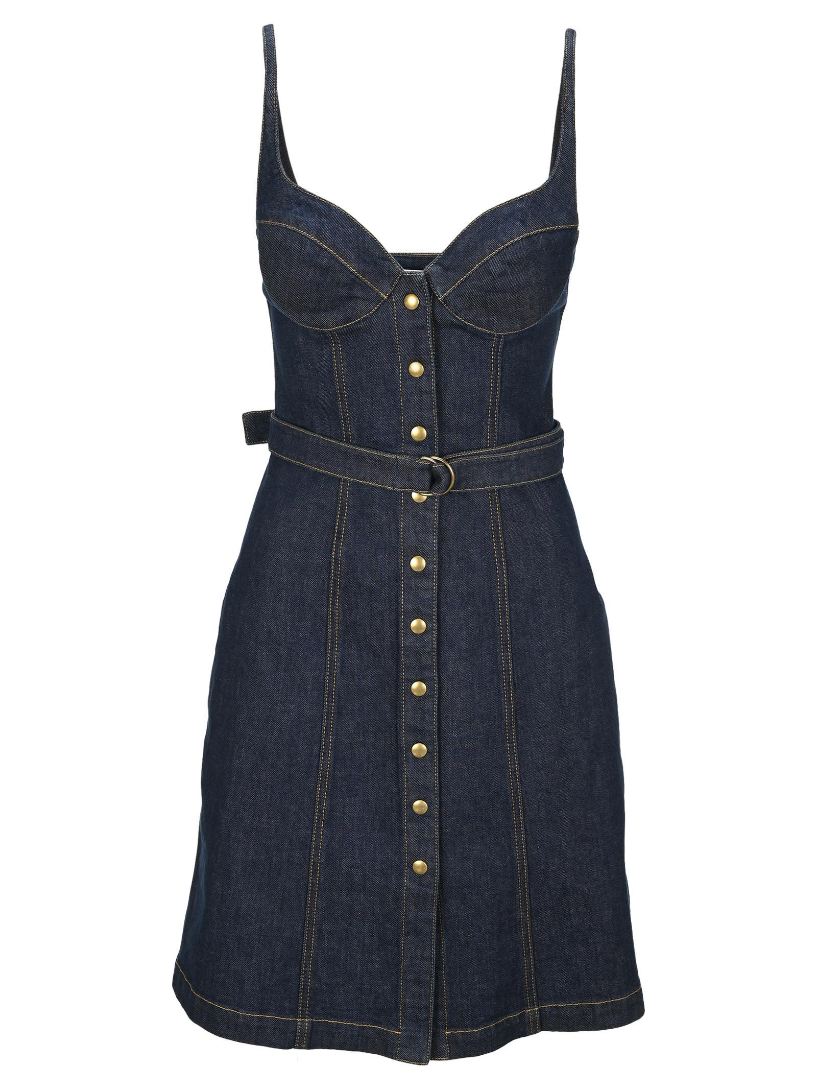 Buy Philosophy Corset Denim Dress online, shop Philosophy di Lorenzo Serafini with free shipping