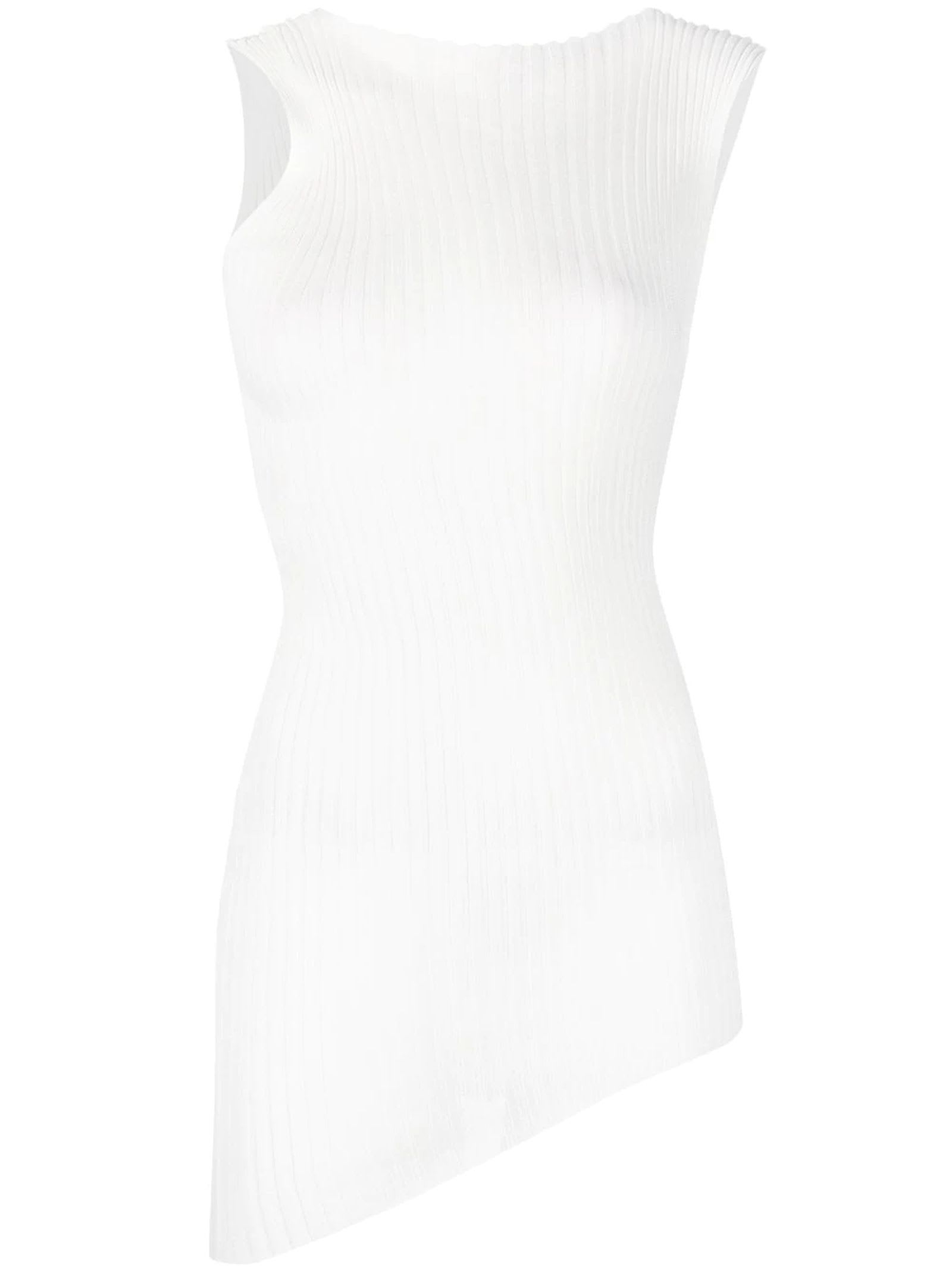 Maison Margiela WHITE COTTON BLEND TANK TOP