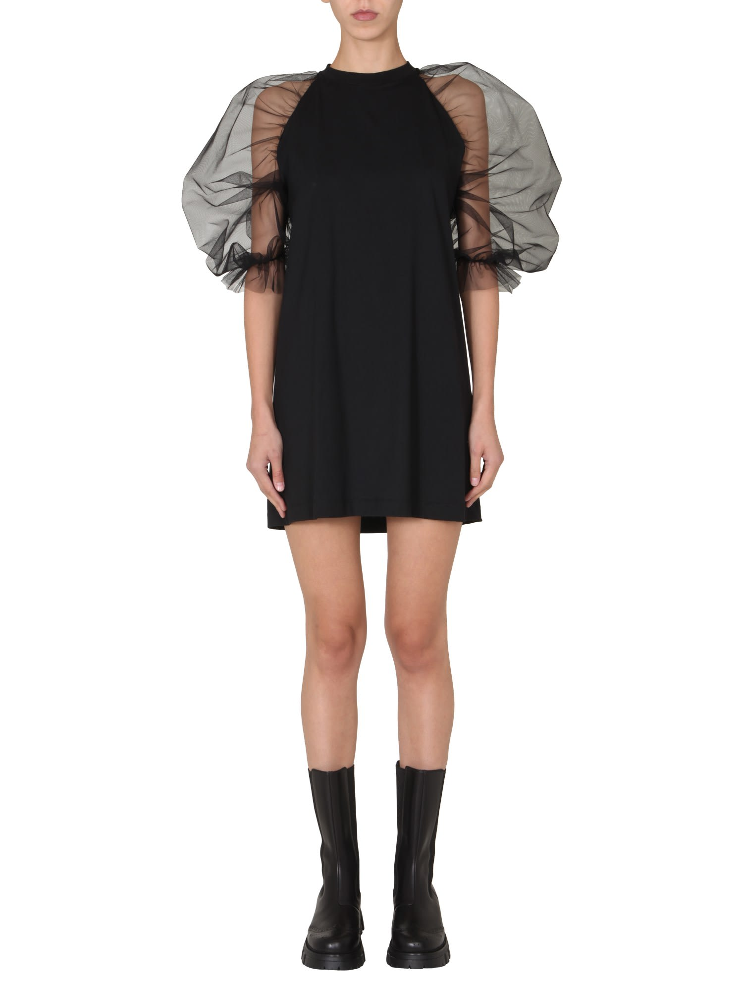 Msgm DRESS WITH TULLE SLEEVES