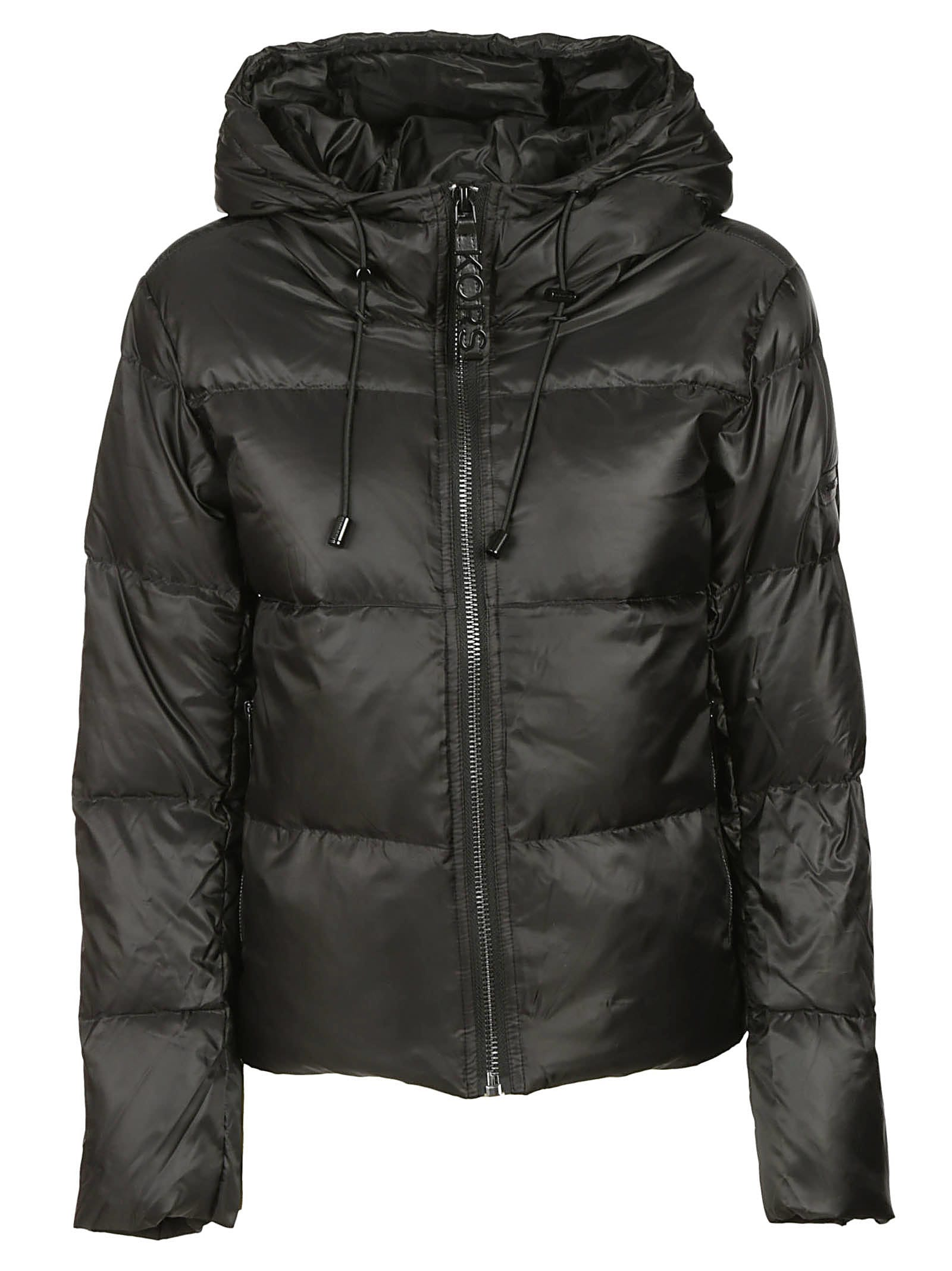 Michael Kors Drawstring Hood Padded Jacket