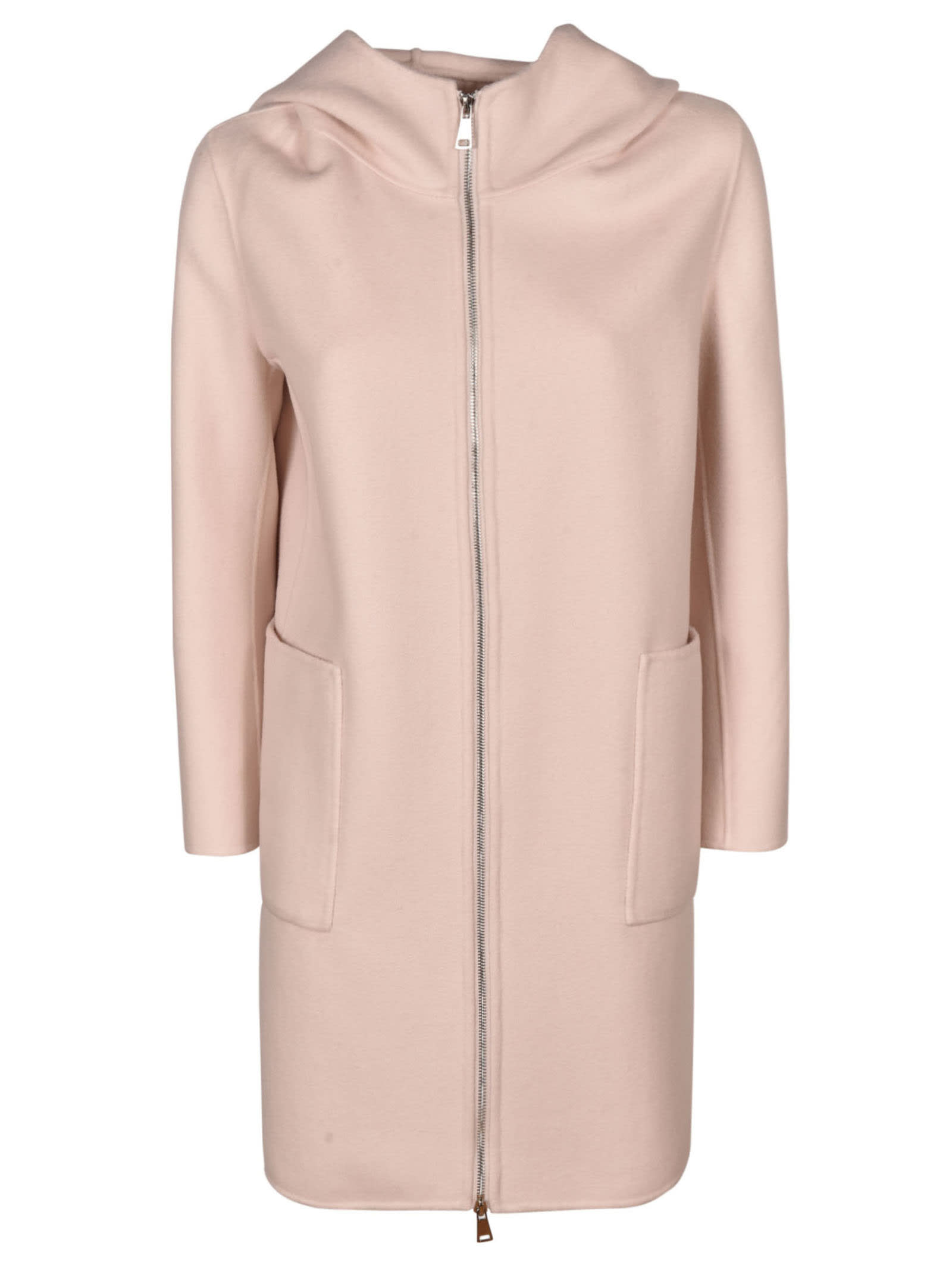 Fur Vest Applique Hooded Coat
