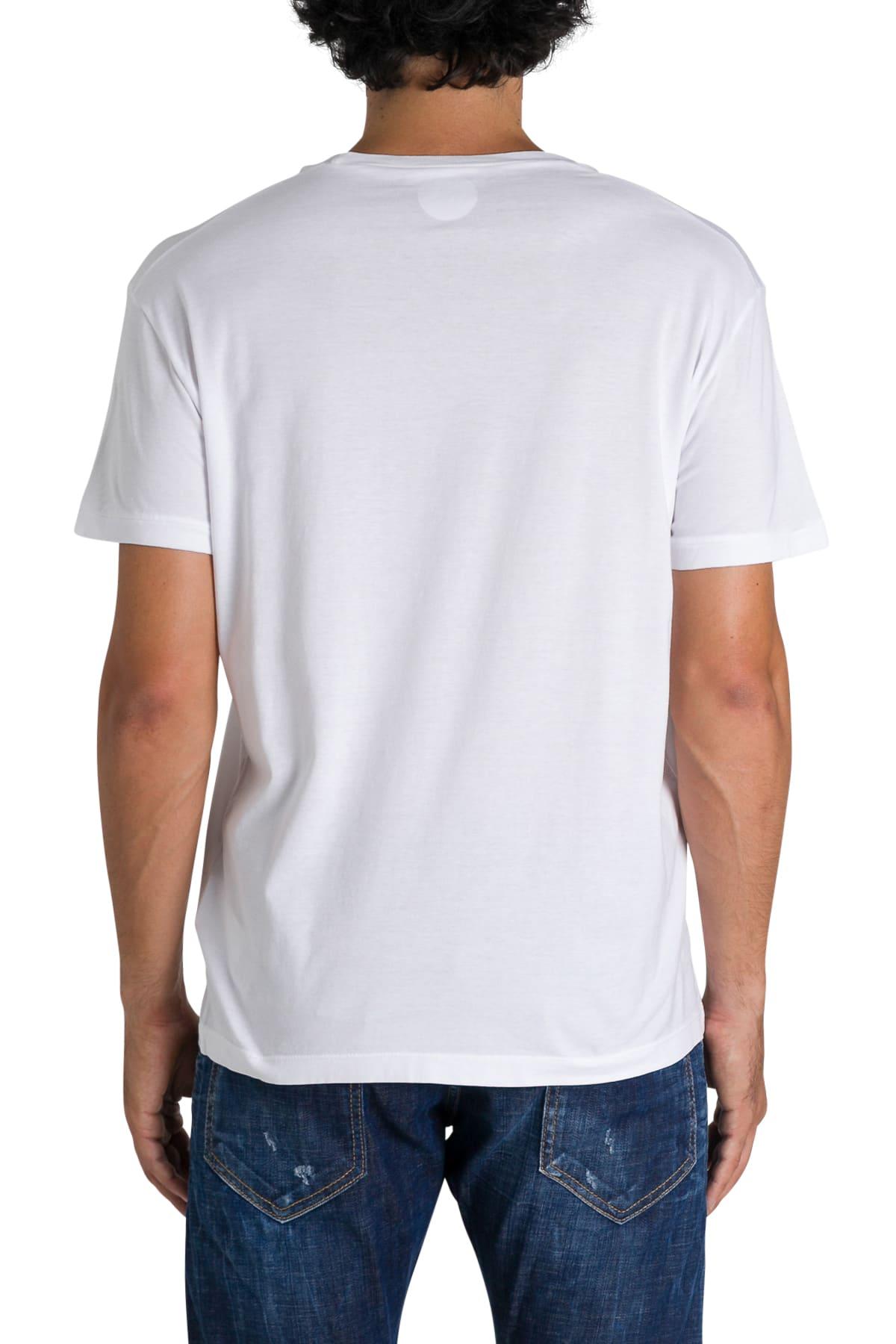 info for 8fff2 bee11 Dsquared2 T-shirt Girocollo A Maniche Corte Con Stampa Frontale