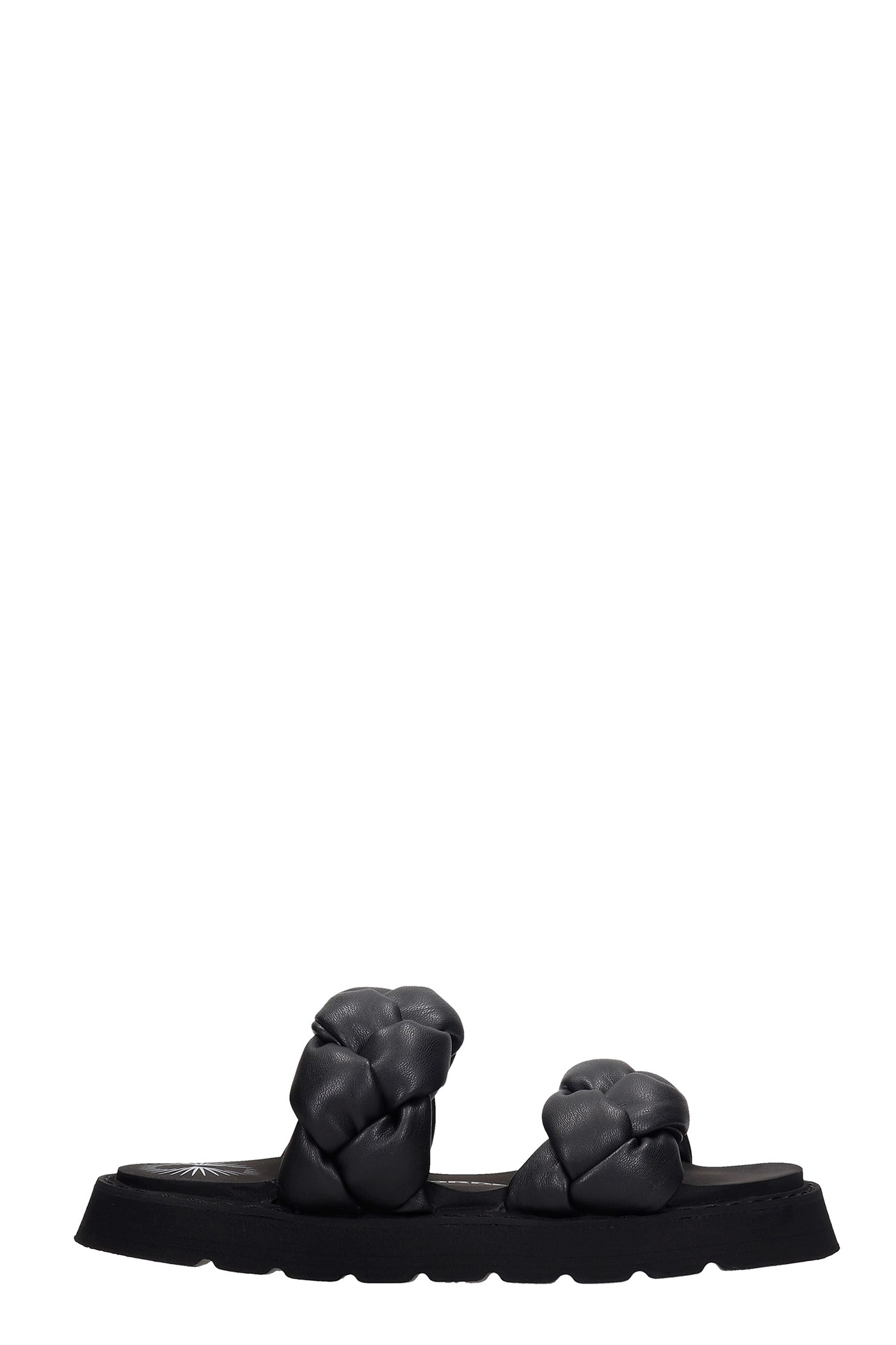 Iris Flats In Black Leather