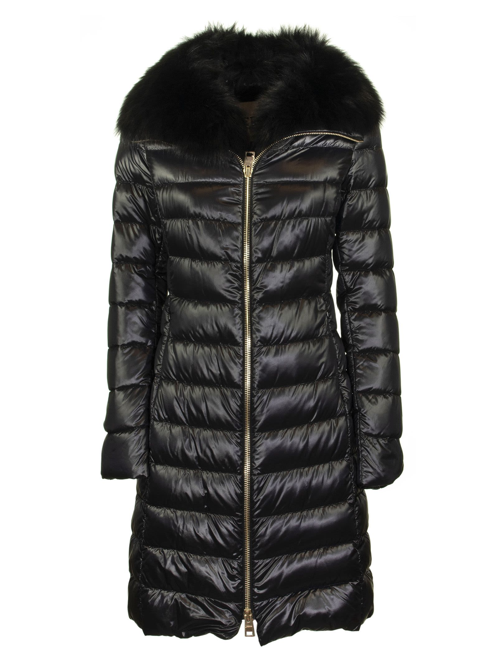 Herno Long Elisa Down Jacket With Fur