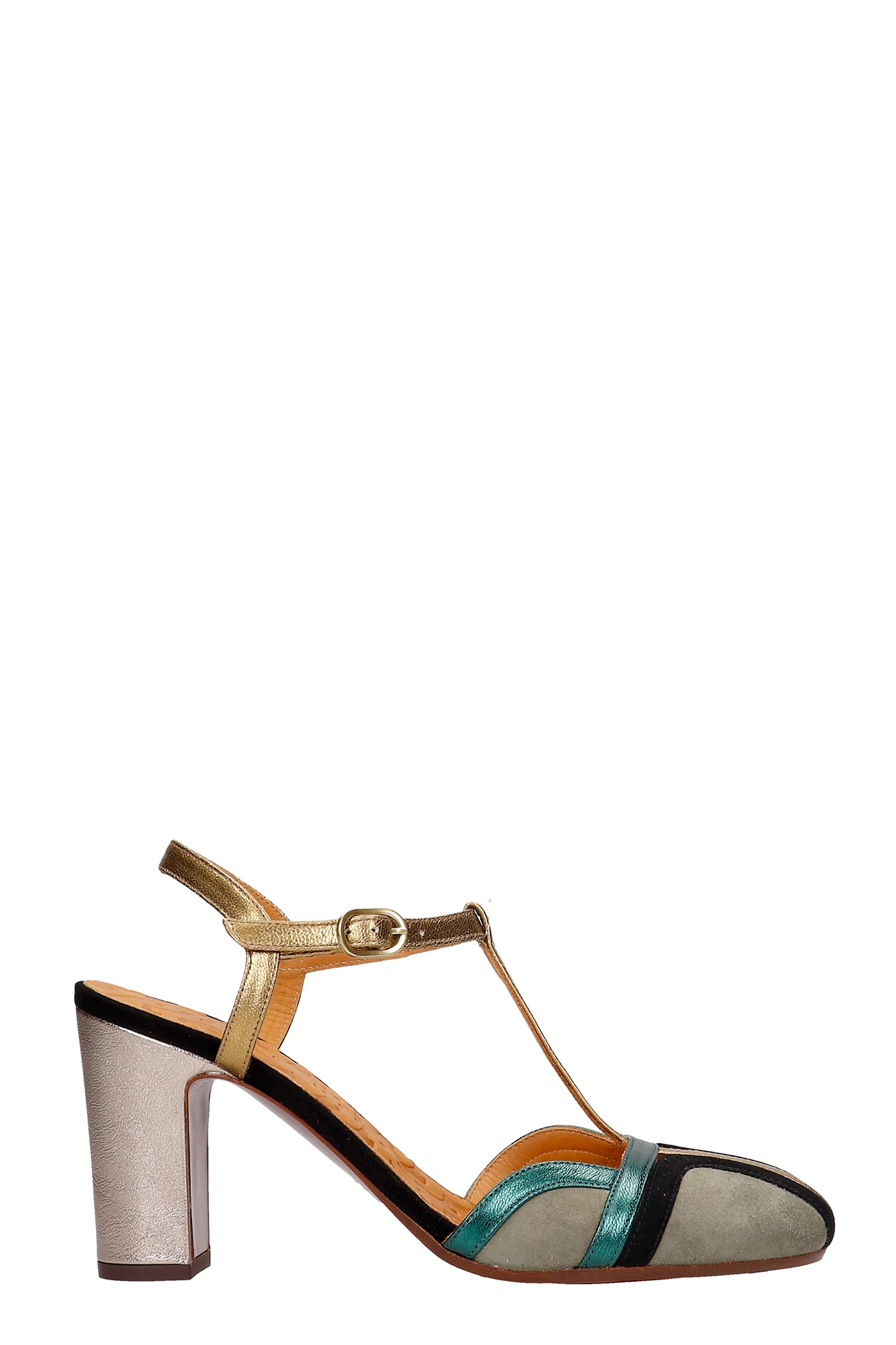 Chie Mihara INMA SANDALS IN BRONZE LEATHER