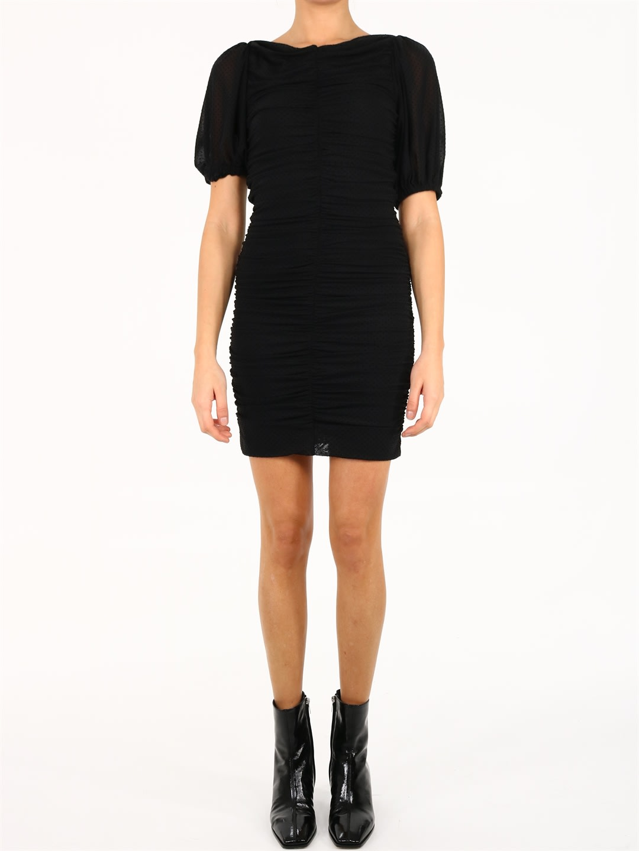 Ganni Ruched Mini Dress