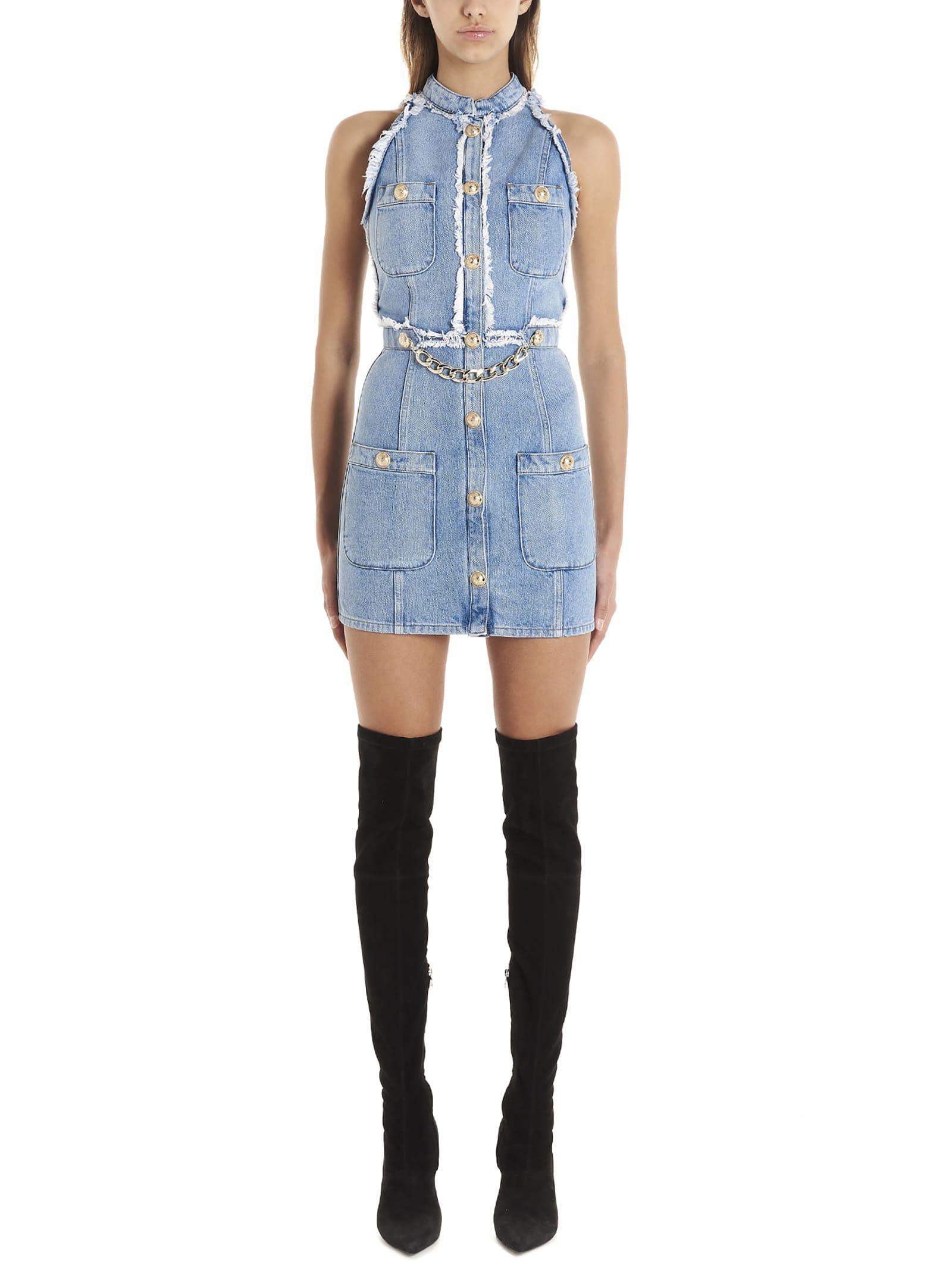Buy Balmain Mini Dress online, shop Balmain with free shipping