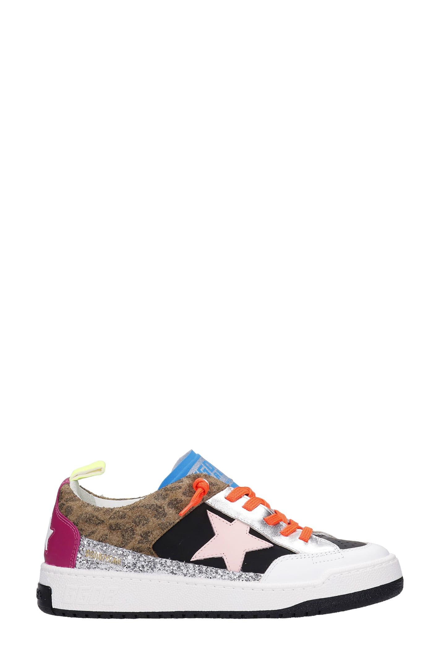 Golden Goose Yeah Sneakers In Multicolor Synthetic Fibers