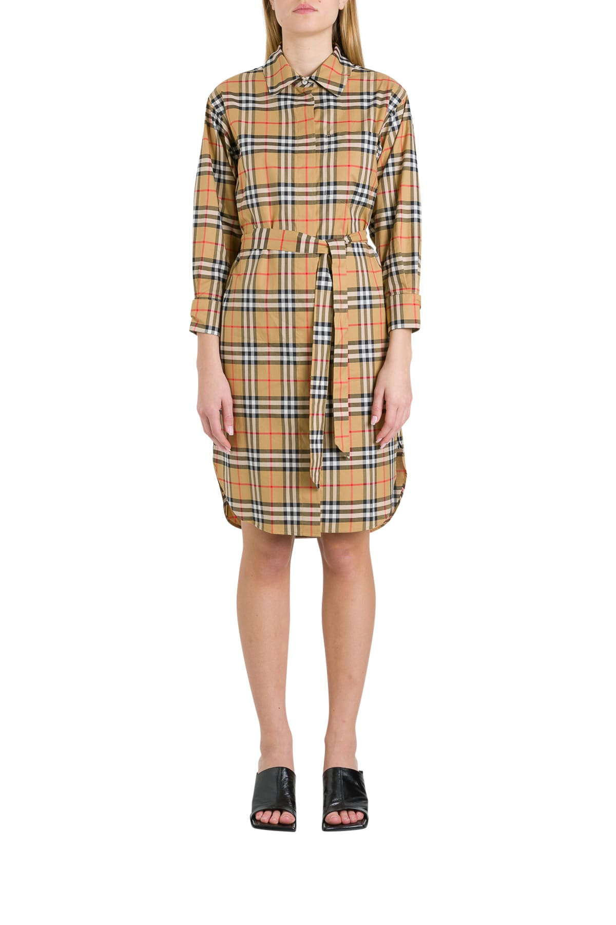Buy Burberry Isotto Pinafore Dress online, shop Burberry with free shipping