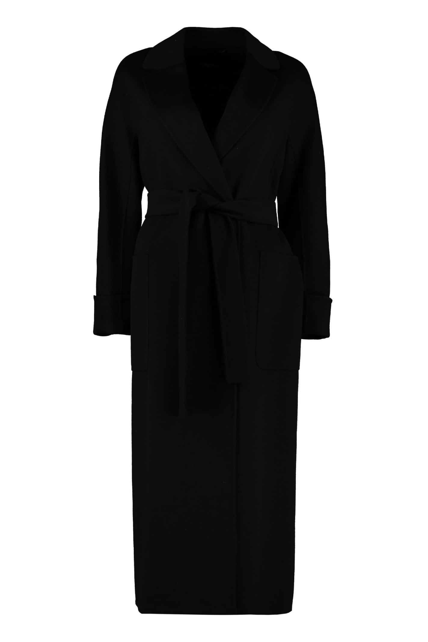 S Max Mara Here is The Cube Algeri Virgin Wool Long Coat