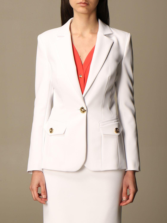 Elisabetta Franchi Blazer Elisabetta Franchi Single-breasted Jacket In Technical Cady