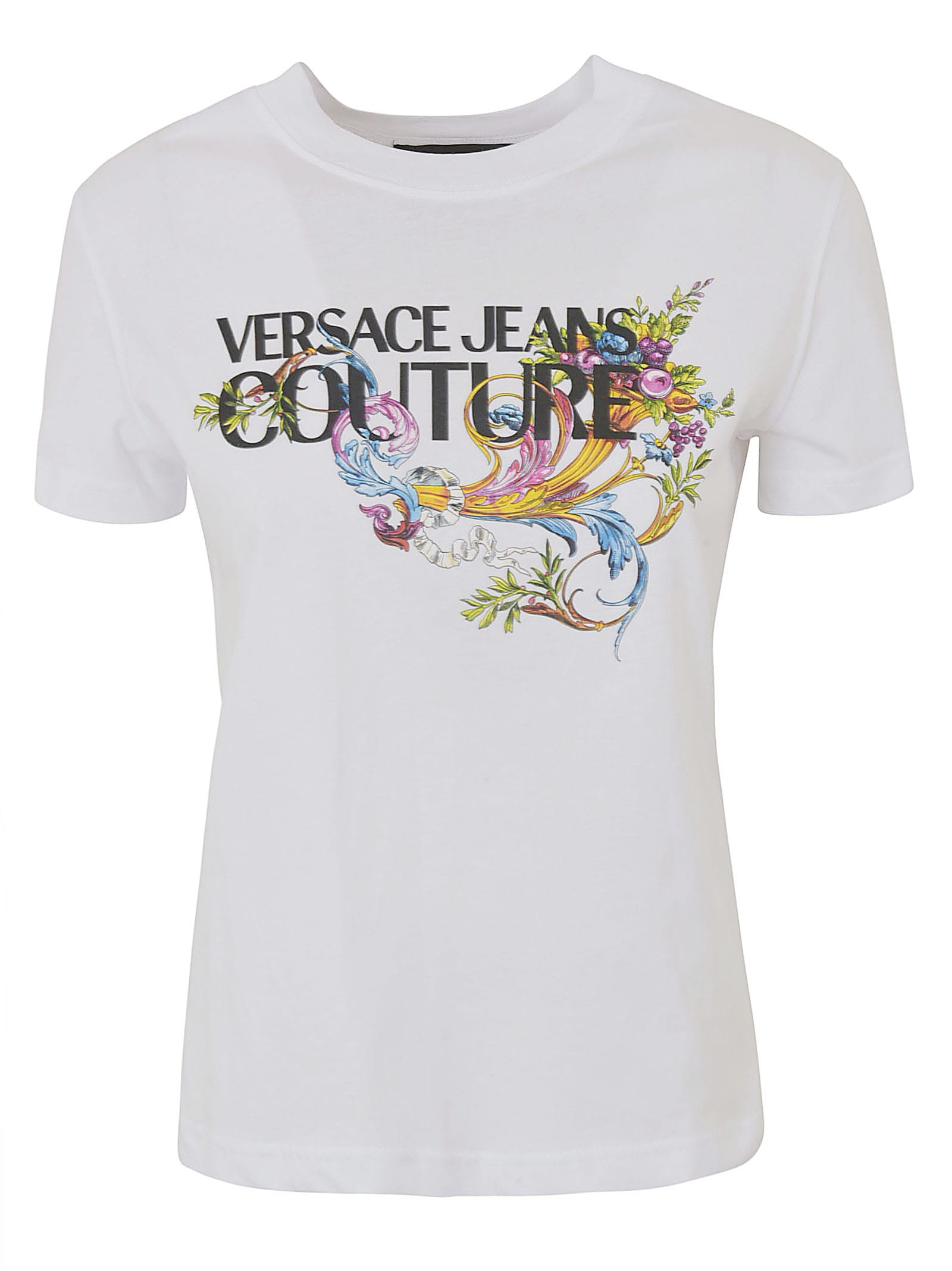 Versace Jeans Couture FLORAL COUTURE PRINTED T-SHIRT