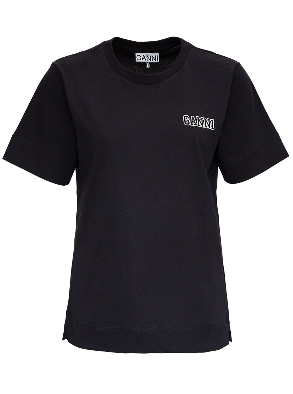 Ganni Thin Software Recycled Jersey T-shirt In Black