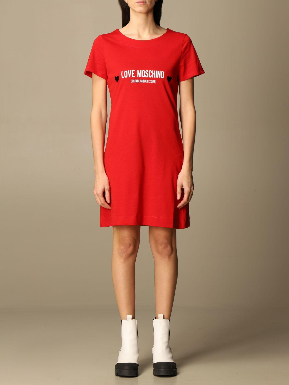 Love Moschino Dress Love Moschino T-shirt Dress With Logo