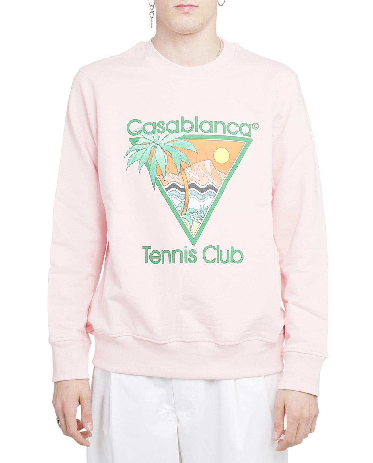 Casablanca Sweatshirts PINK TENNIS CLUB ICON SWEATSHIRT
