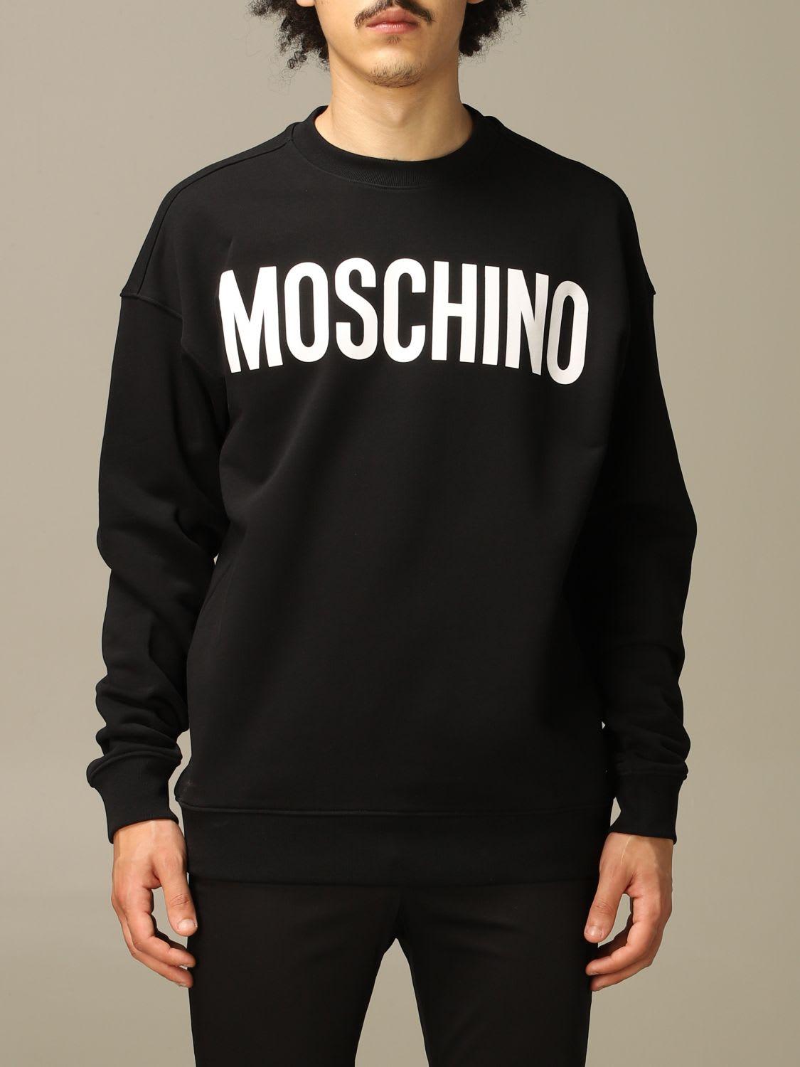 Moschino Couture Sweatshirt Moschino Couture Crewneck Sweatshirt With Mirror Print