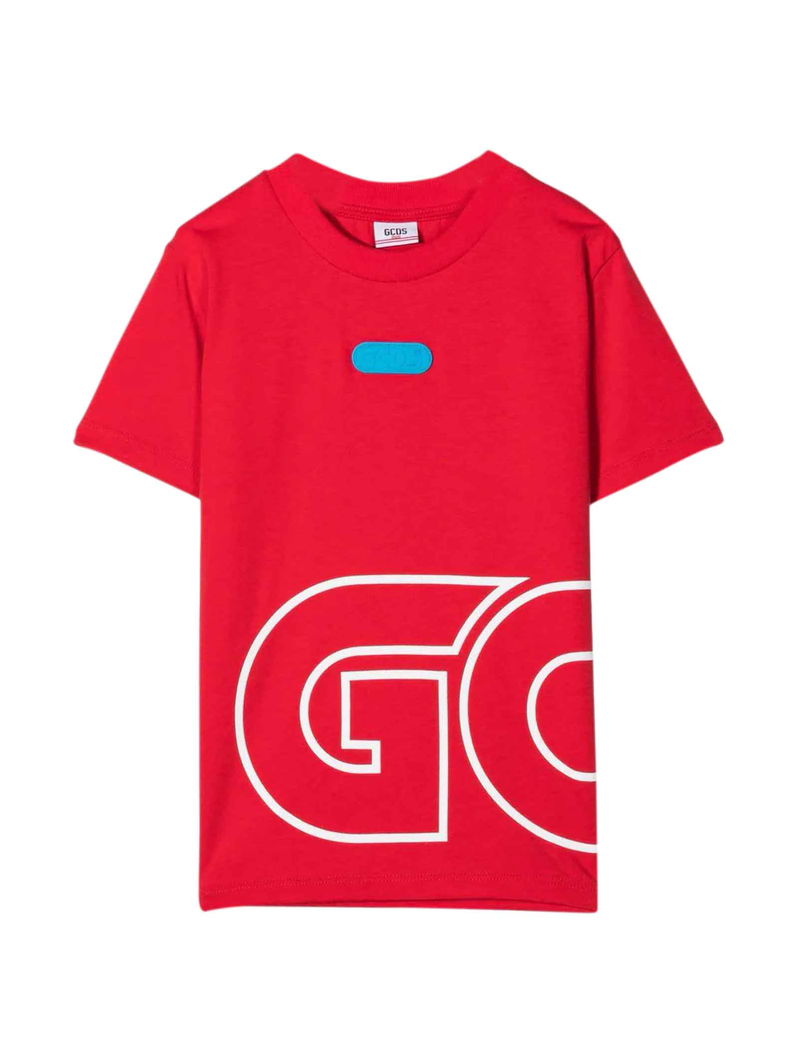 Red Teen T-shirt With White Print