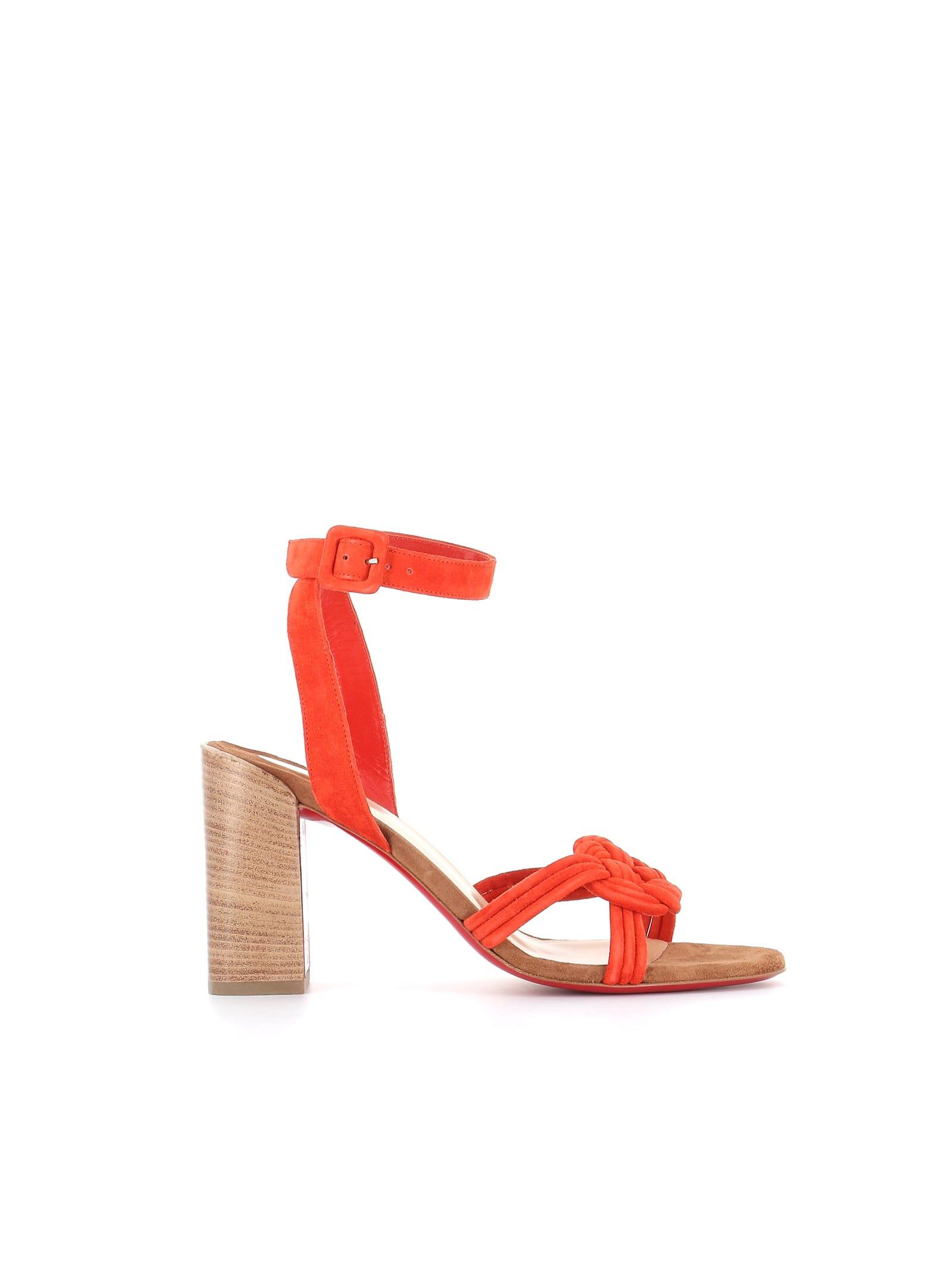 Buy Christian Louboutin Sandalo Ella 85 online, shop Christian Louboutin shoes with free shipping