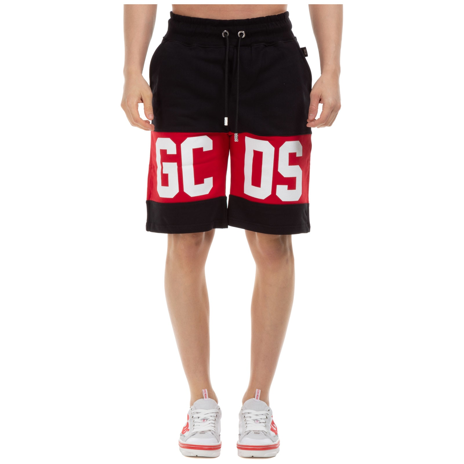 Gcds Band Logo Shorts In Nero