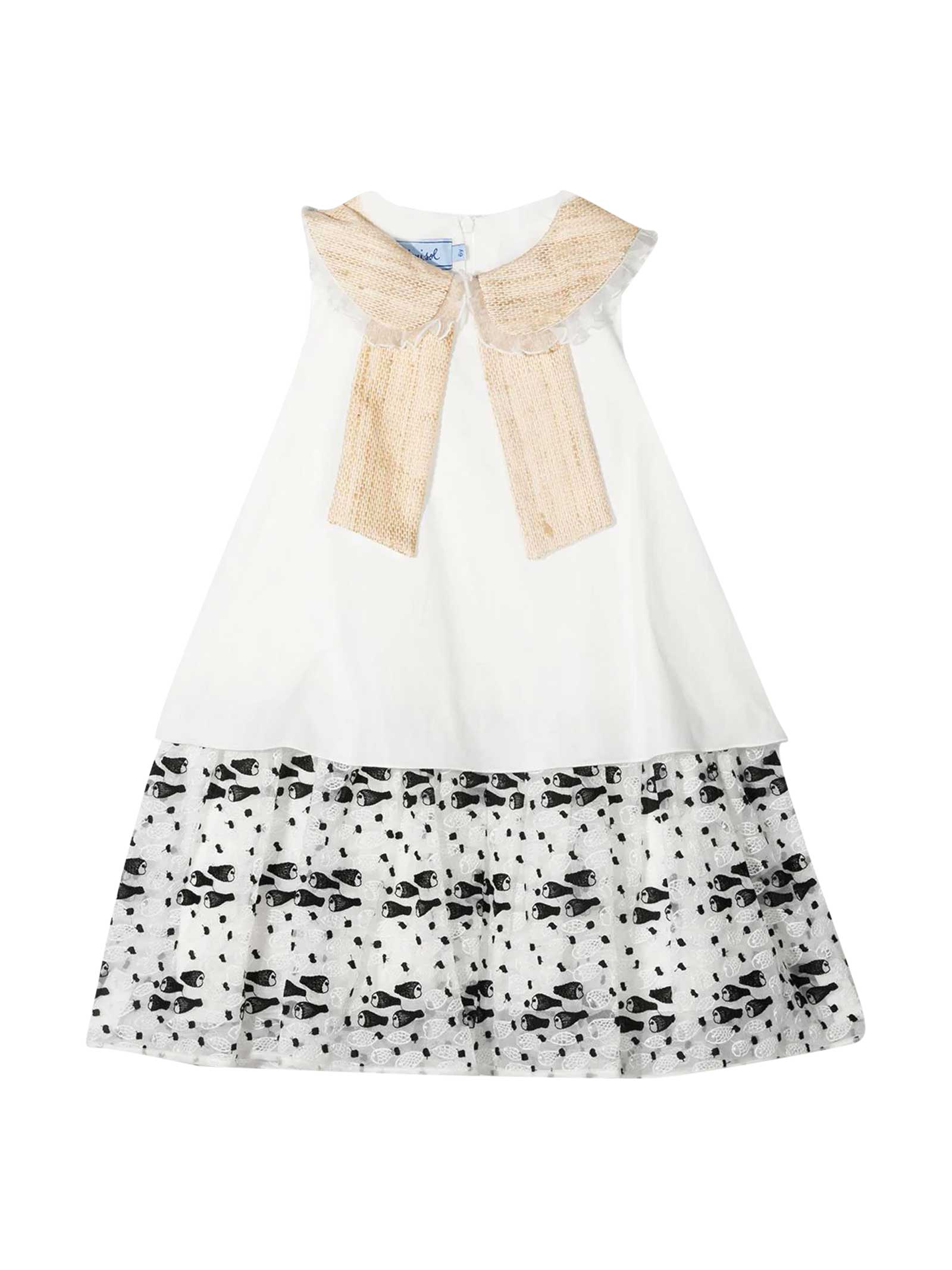 Cream And Ivory Dress Mi Mi Sol Kids