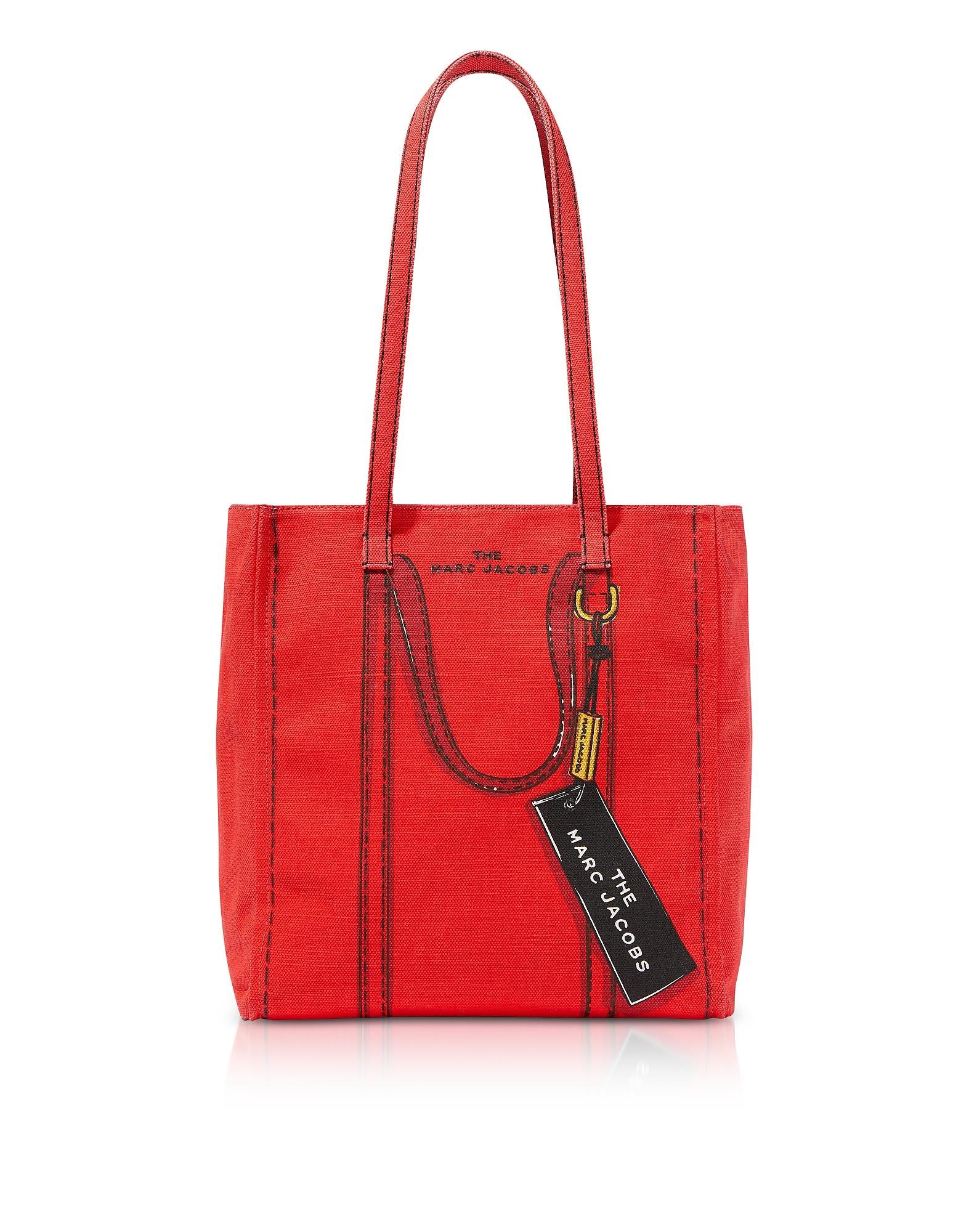 Marc Jacobs Cotton & Linen The Trompe Loeil Tag Tote Bag 27