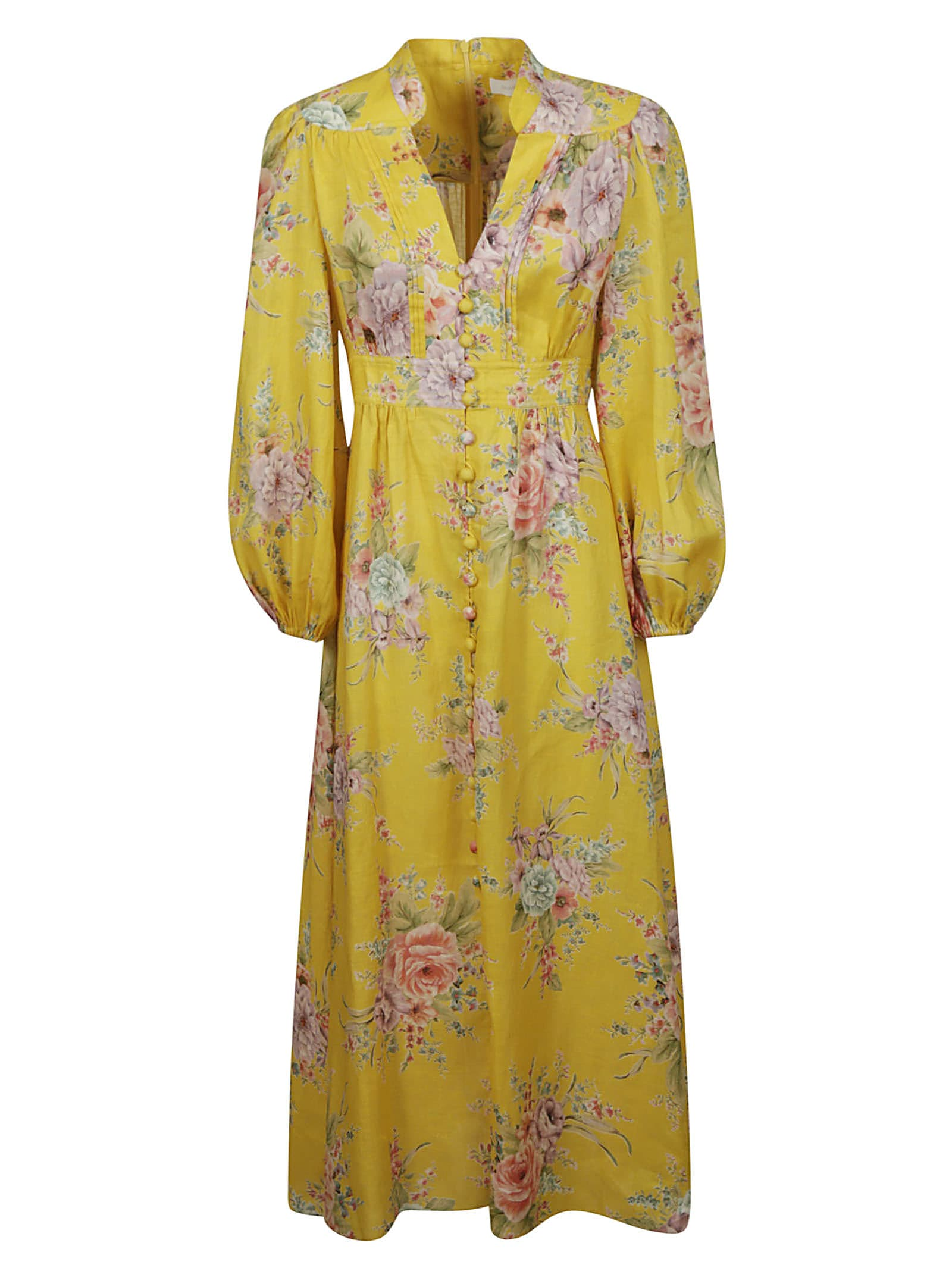 Buy Zimmermann Zinnia Button Down Maxi Dress online, shop Zimmermann with free shipping