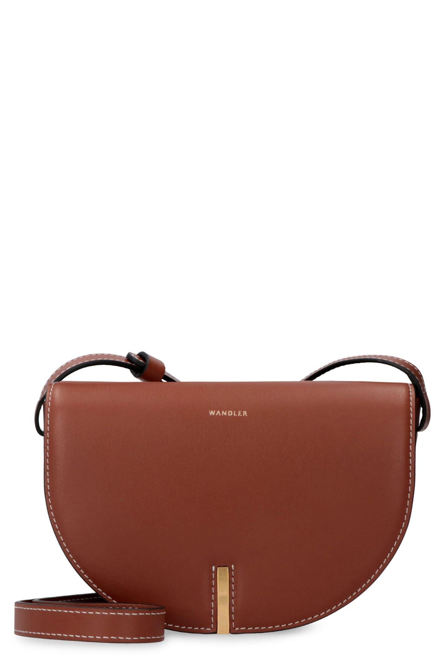 Wandler Nana Leather Crossbody Bag In Brown
