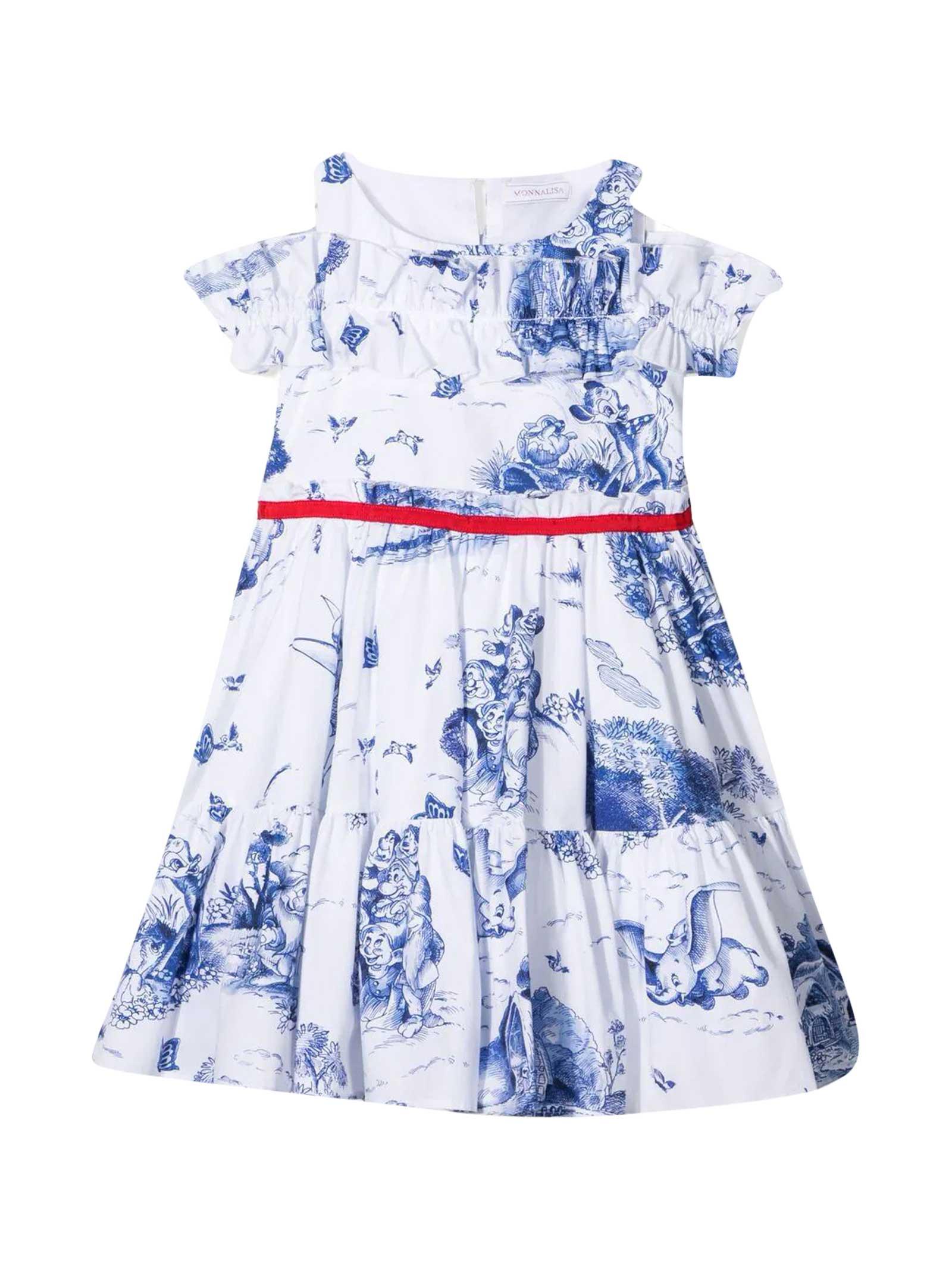 Monnalisa DISNEY DRESS WITH PRINT