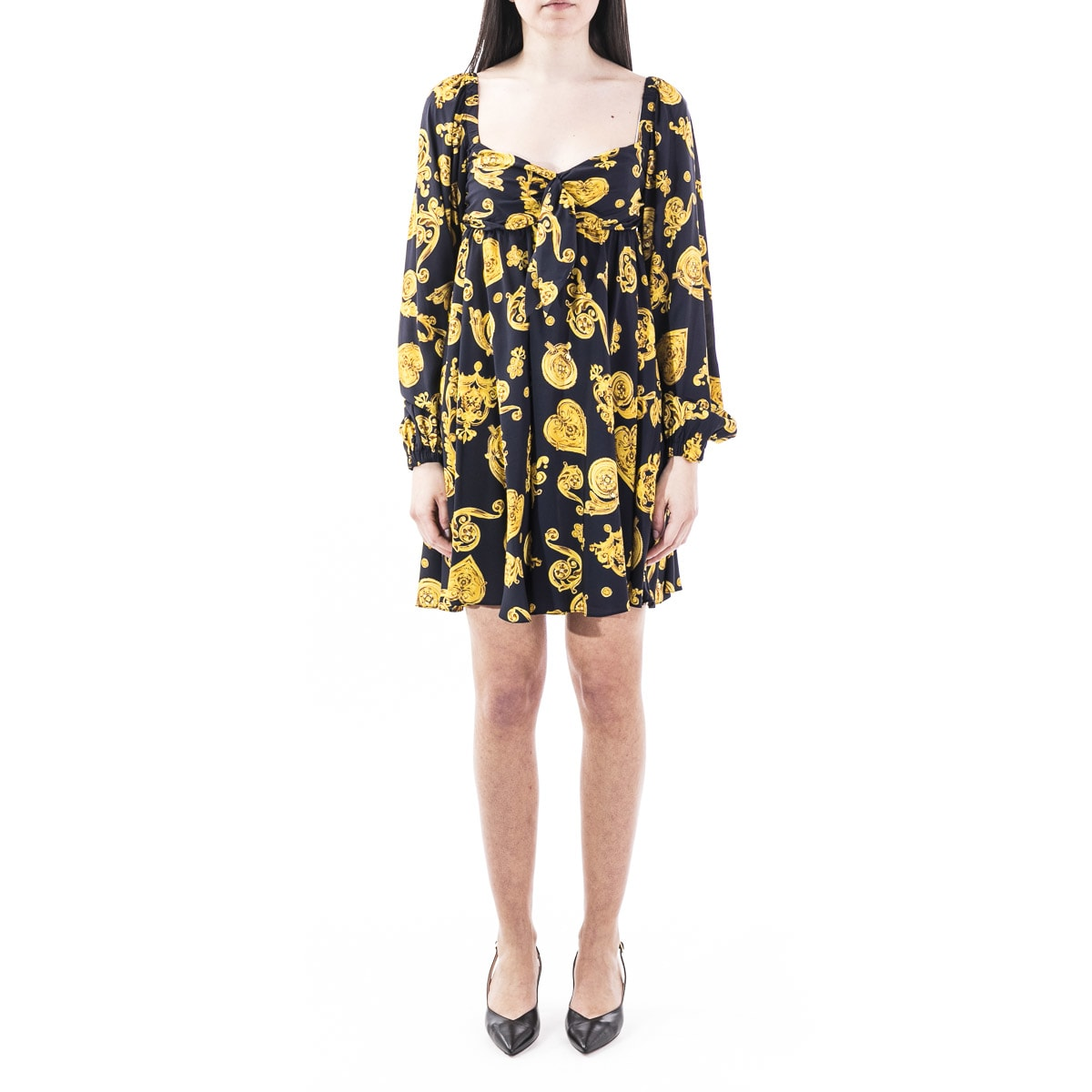 Buy Versace Jeans Couture Viscose Dress online, shop Versace Jeans Couture with free shipping