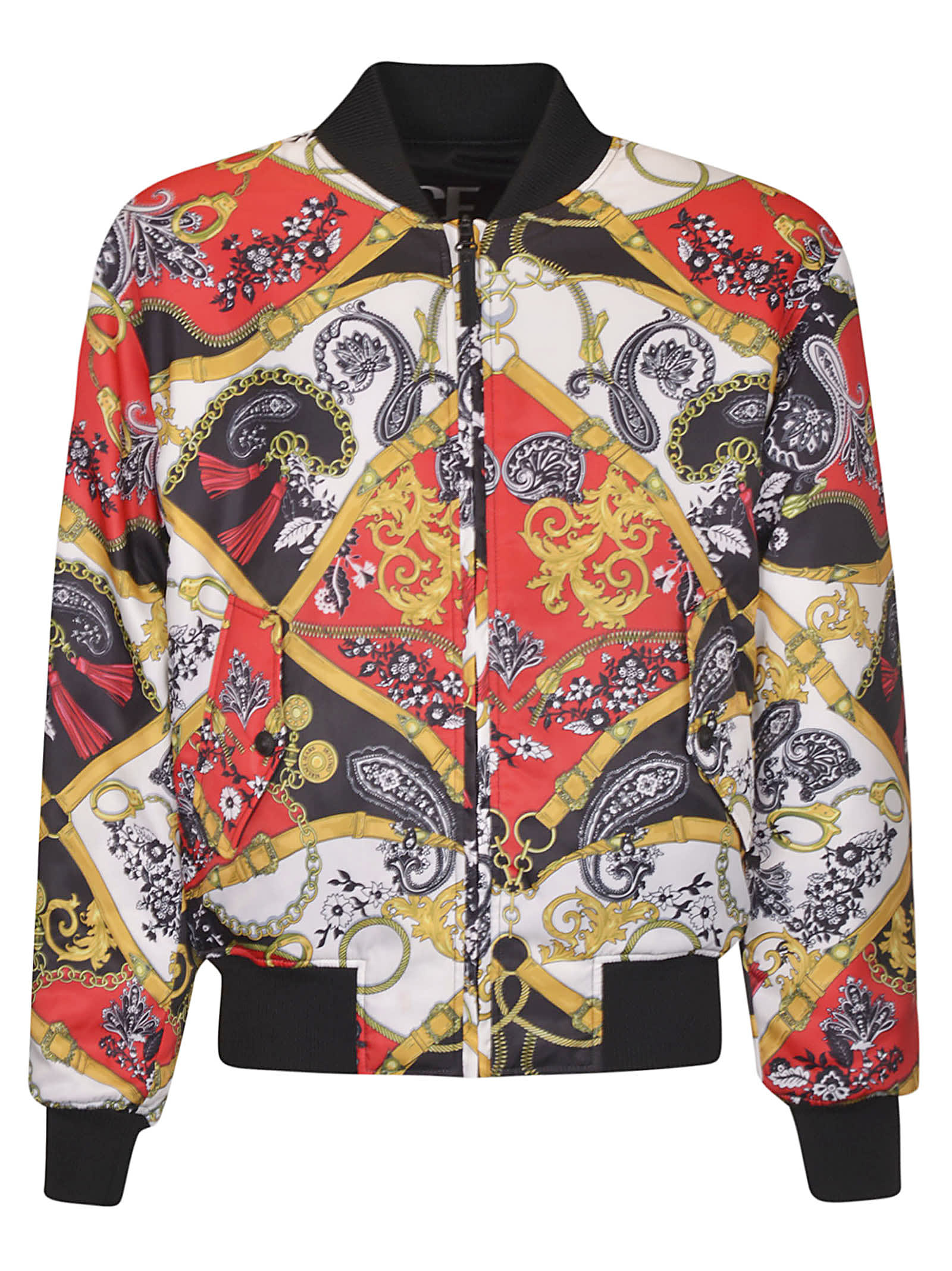 Versace Jeans Couture Bomber jackets PRINTED BELT PAISLEY BOMBER