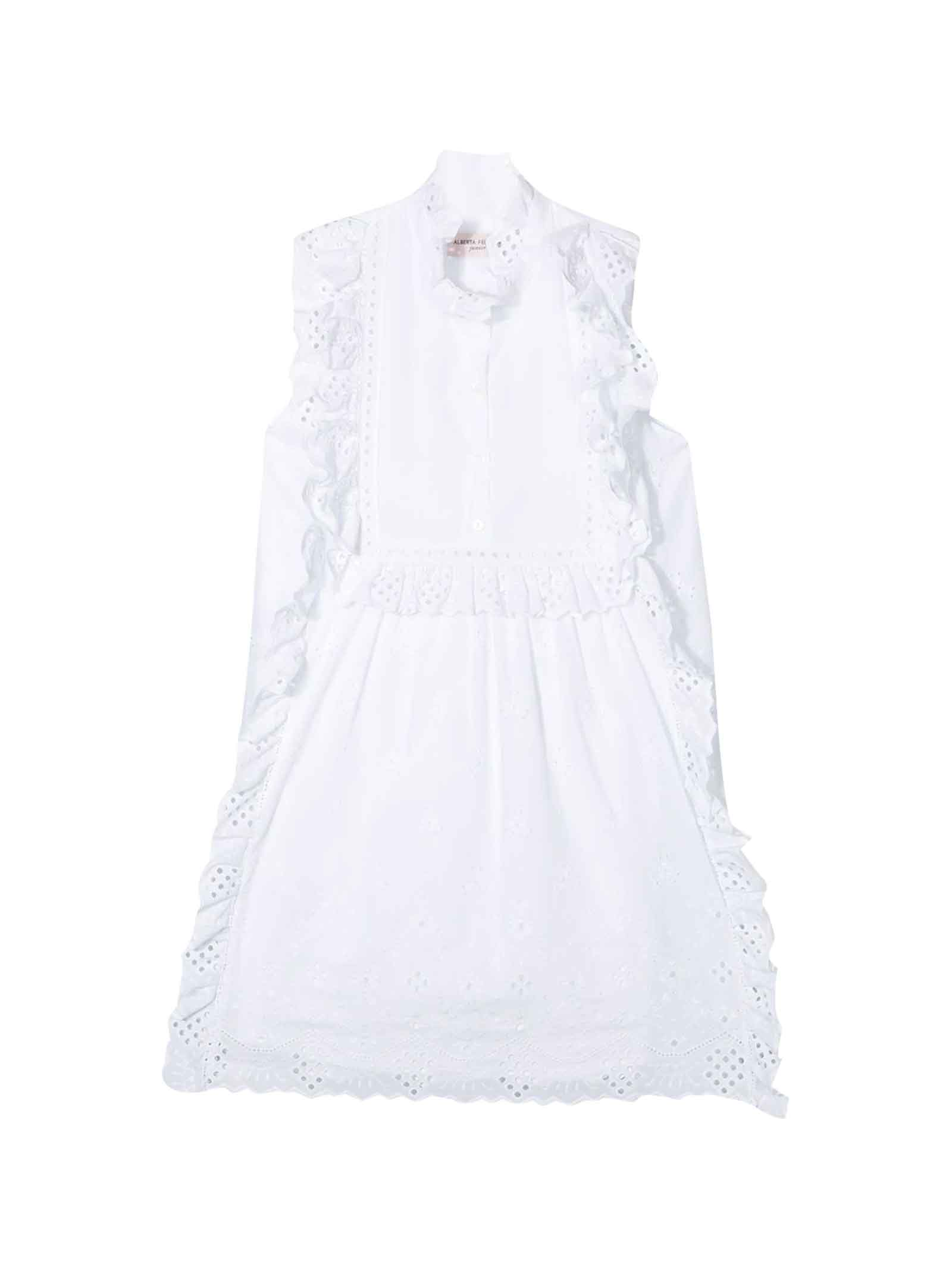 Buy Alberta Ferretti White Girl Dress online, shop Alberta Ferretti with free shipping