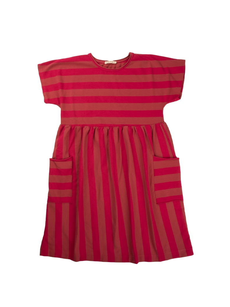 Buy Babe & Tess Pink / Raspberry Striped Dress online, shop Babe & Tess with free shipping