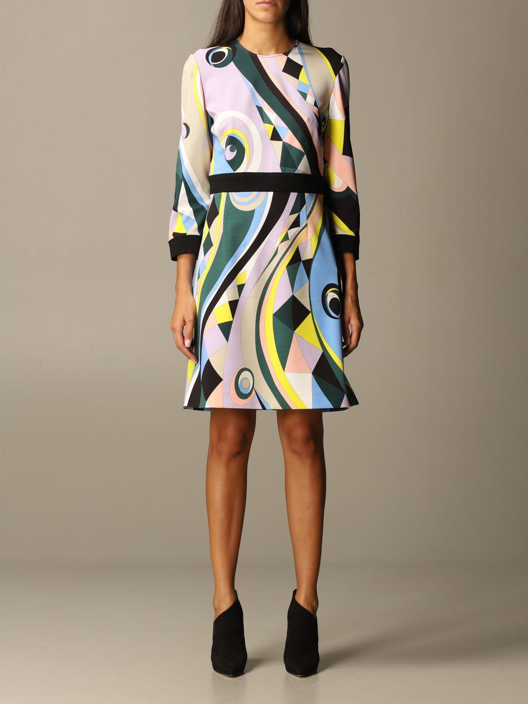 Emilio Pucci Dress Emilio Pucci Sheath Dress In Printed Viscose