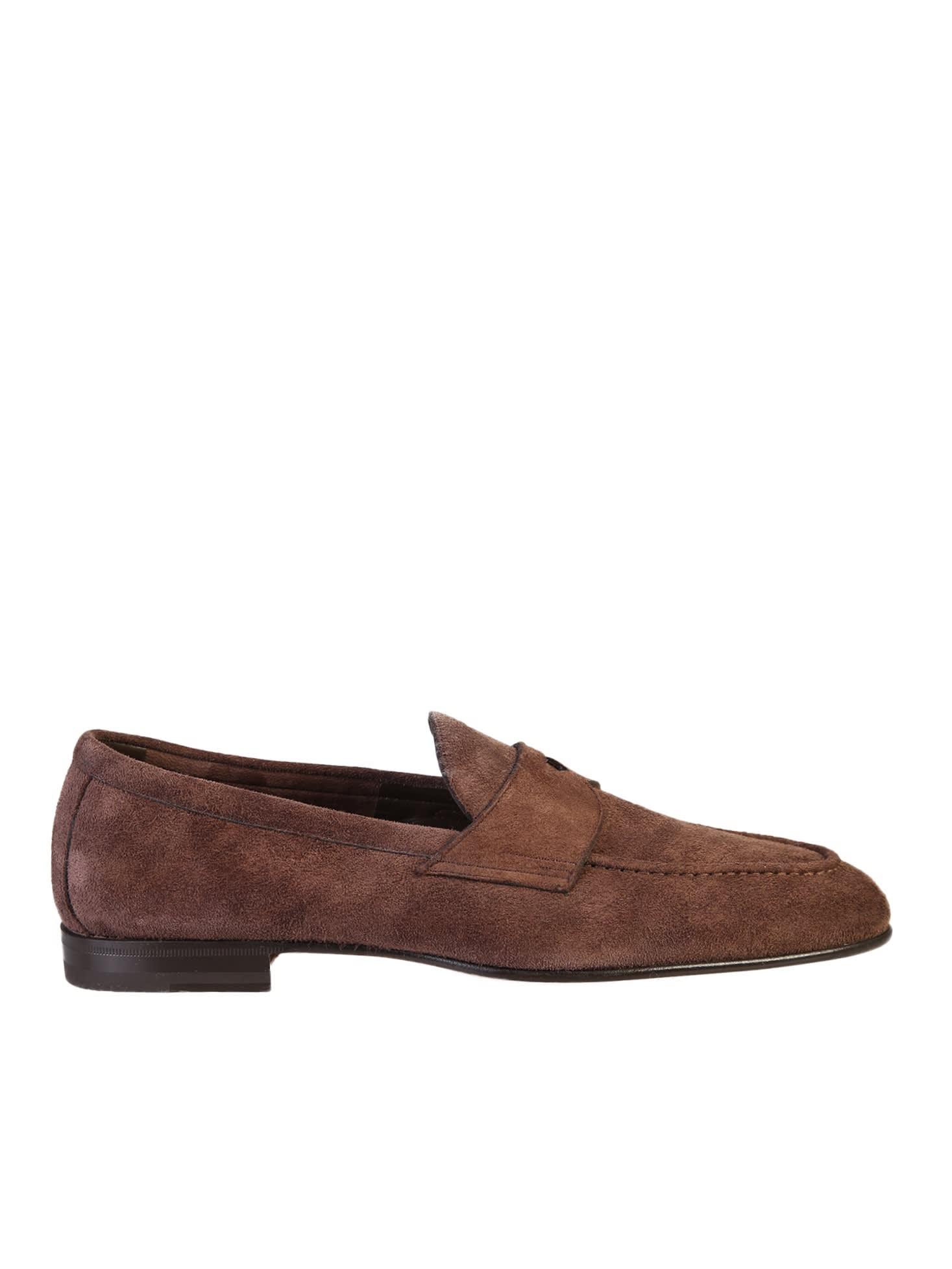 Santoni Brown Loafers