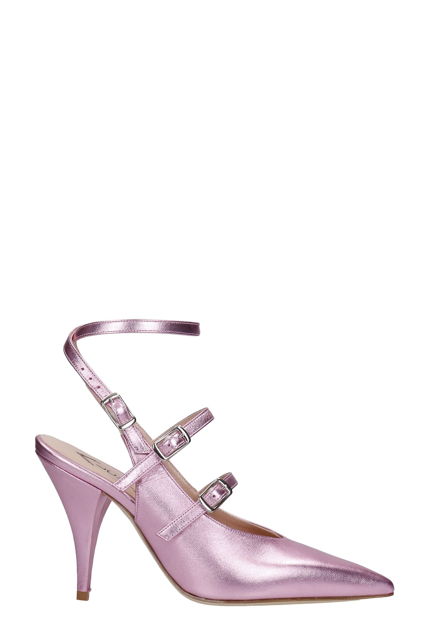Pumps In Rose-pink Leather