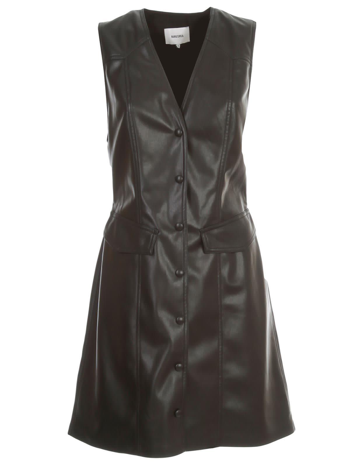 Buy Nanushka Menphi Dress W/s Faux Leather online, shop Nanushka with free shipping