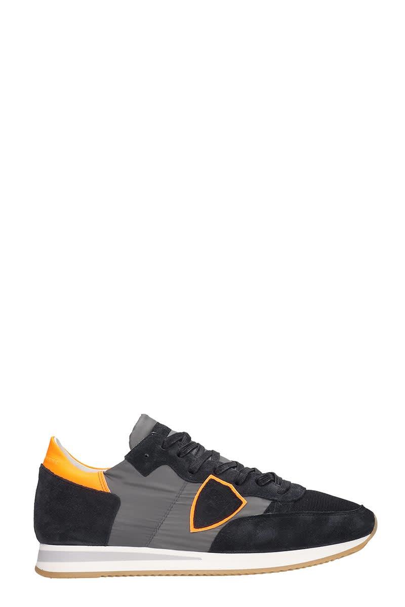 Philippe Model Tropez Sneakers In Blue Nylon