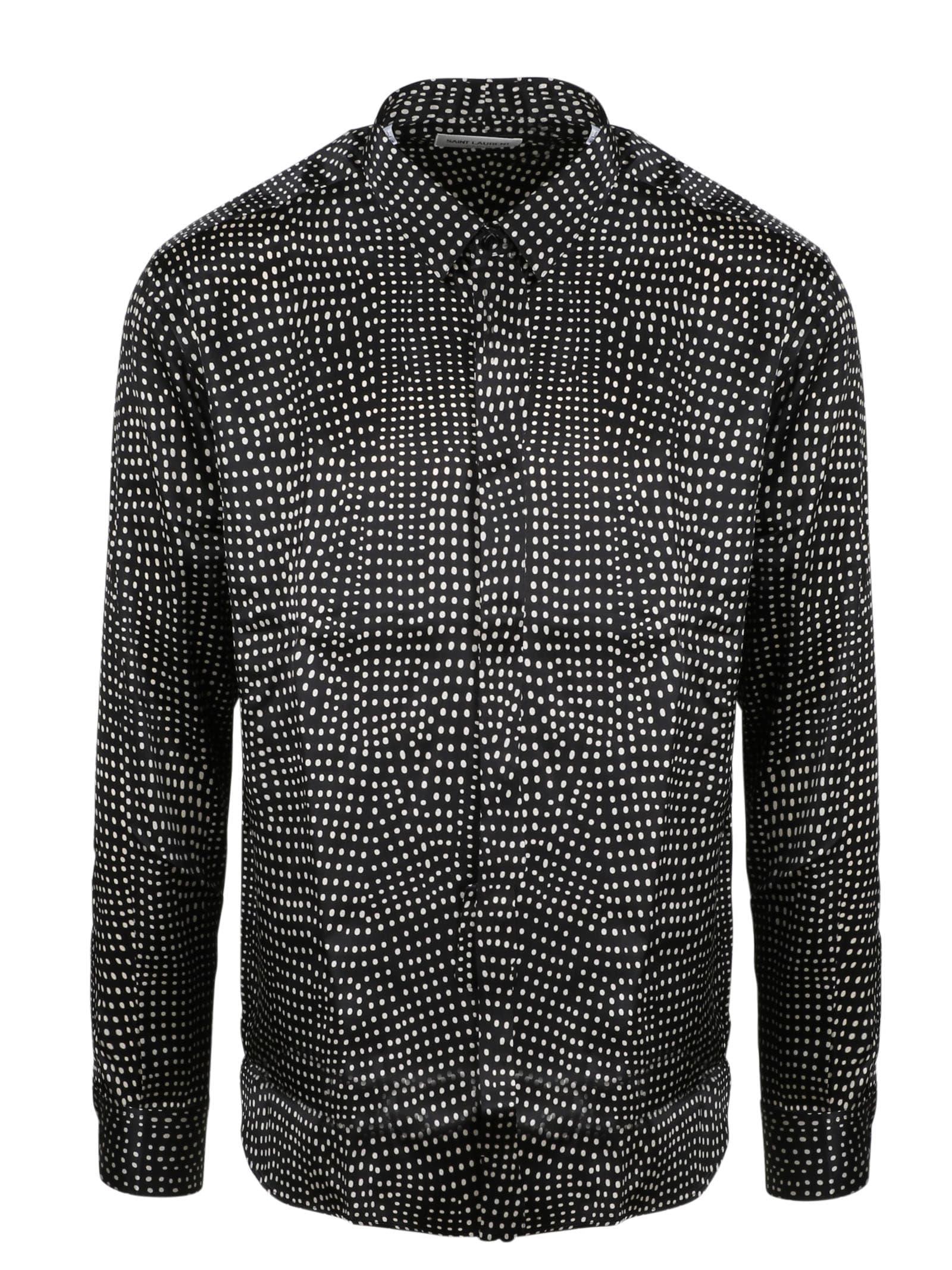 Saint Laurent Polka Dot Satin Shirt