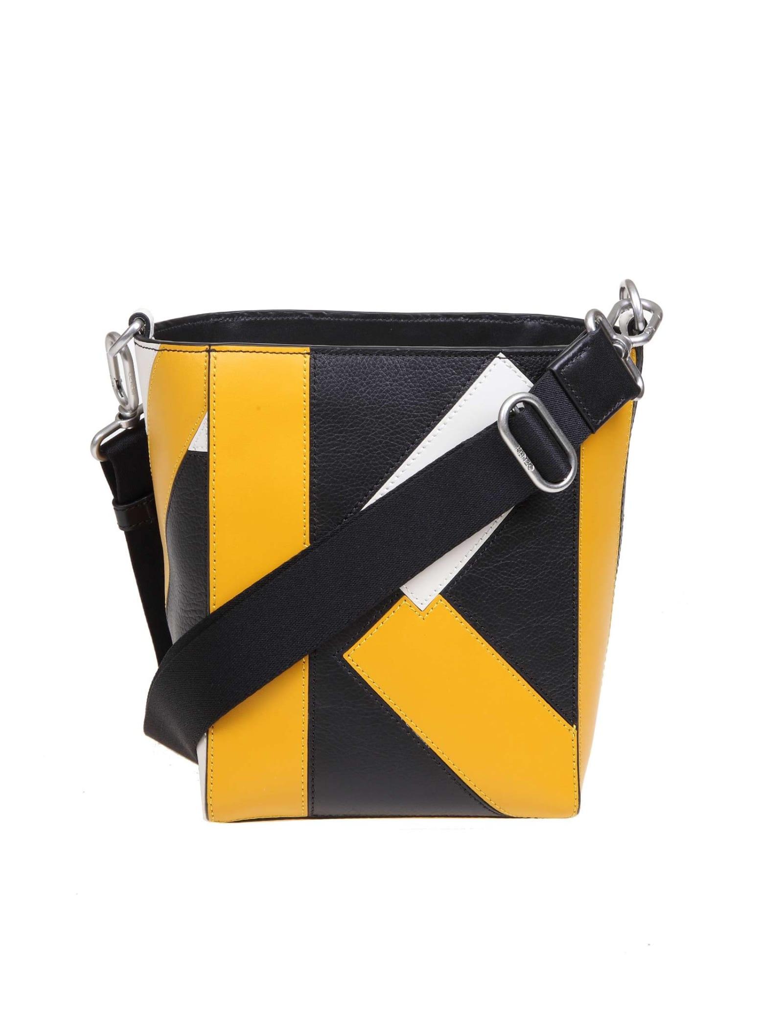 Kenzo Kube Small Leather Shoulder Bag