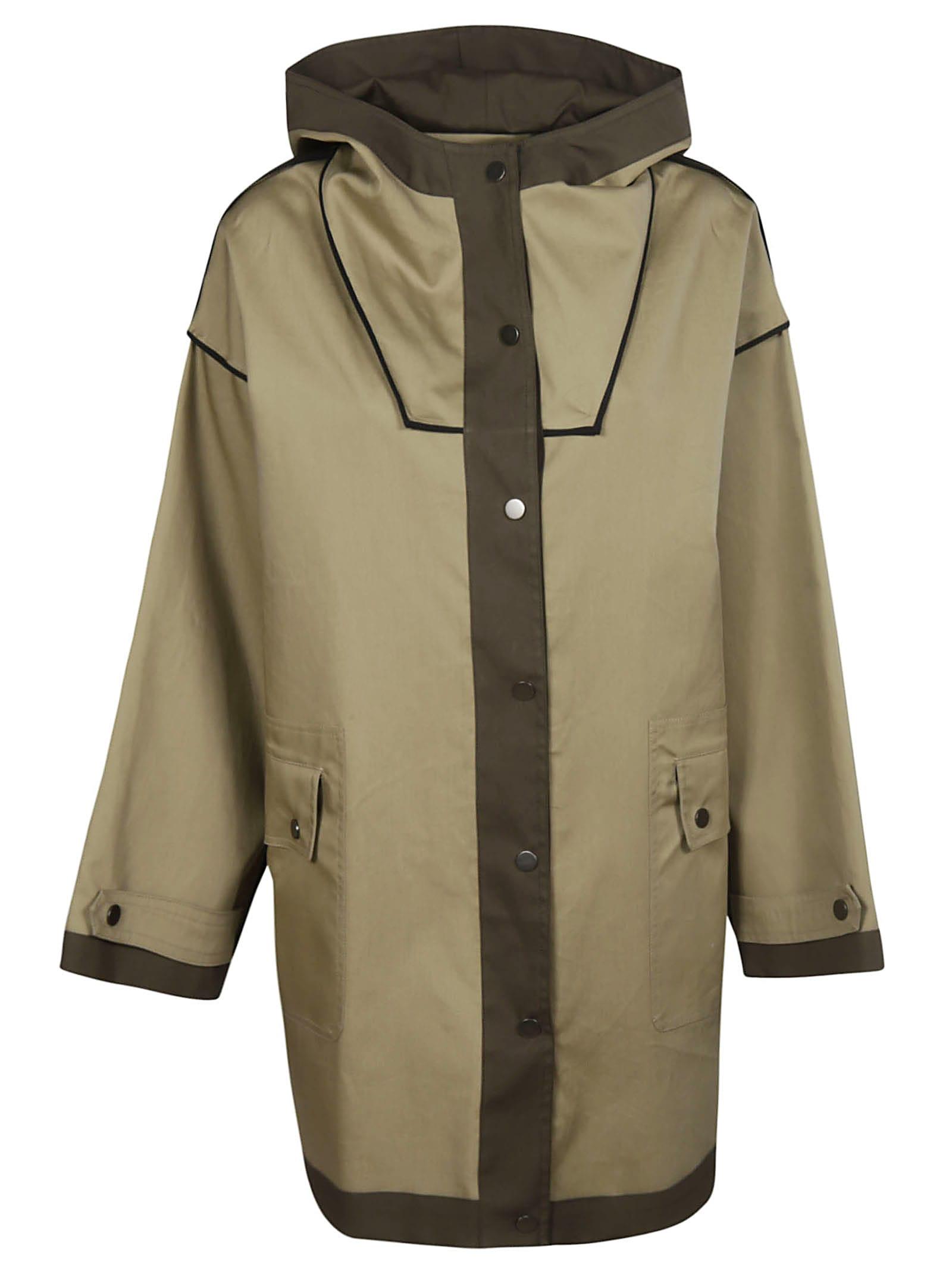 Erika Cavallini Button-Up Hooded Coat