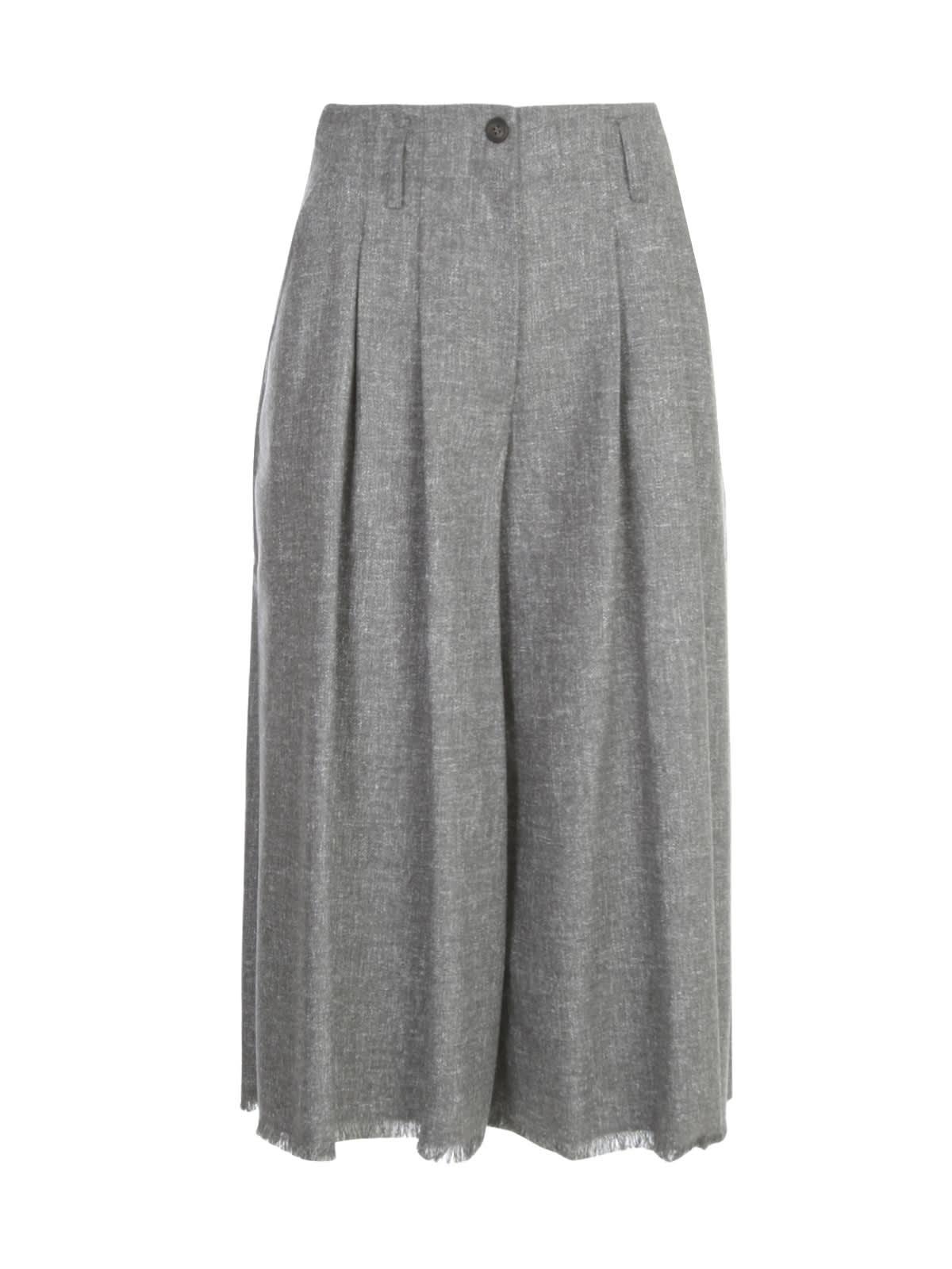 Skirt Pants W/fringes On Bottom