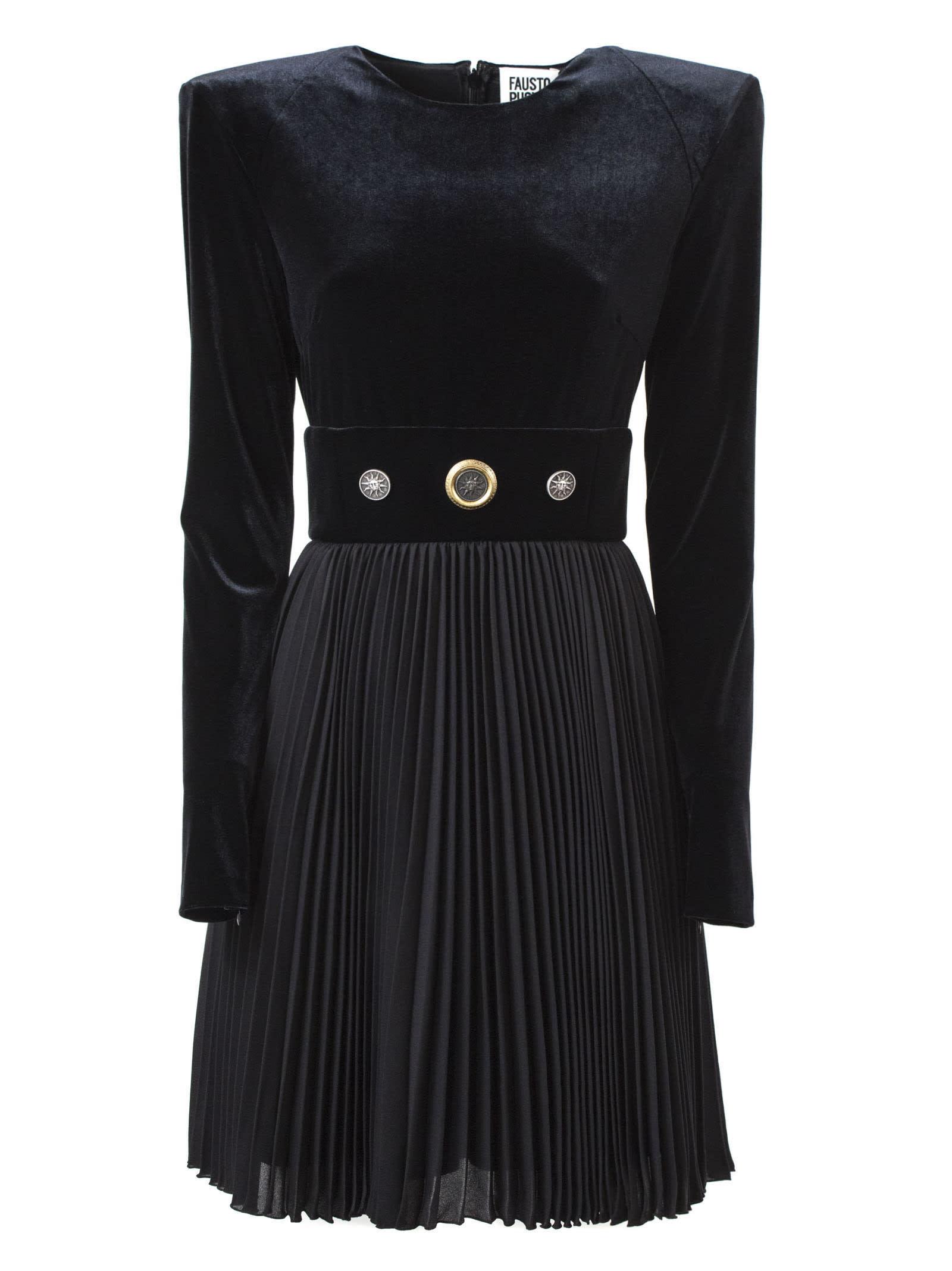 Fausto Puglisi Black Velvet Dress