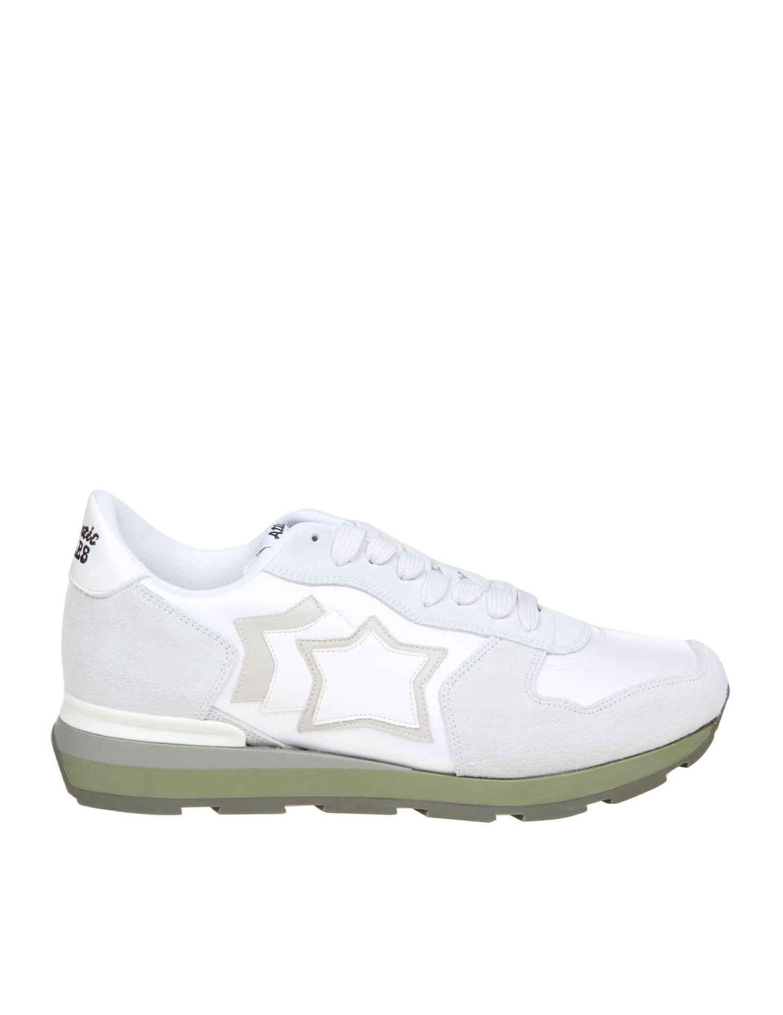 Atlantic Stars Antares Sneakers In Suede And White Fabric