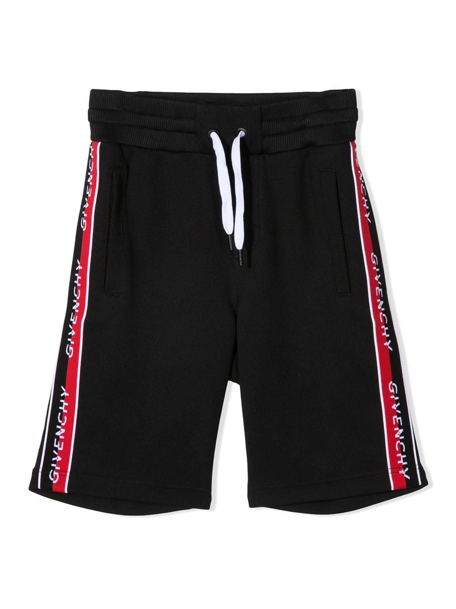 Givenchy Shorts BLACK COTTON-BLEND TRACK SHORTS