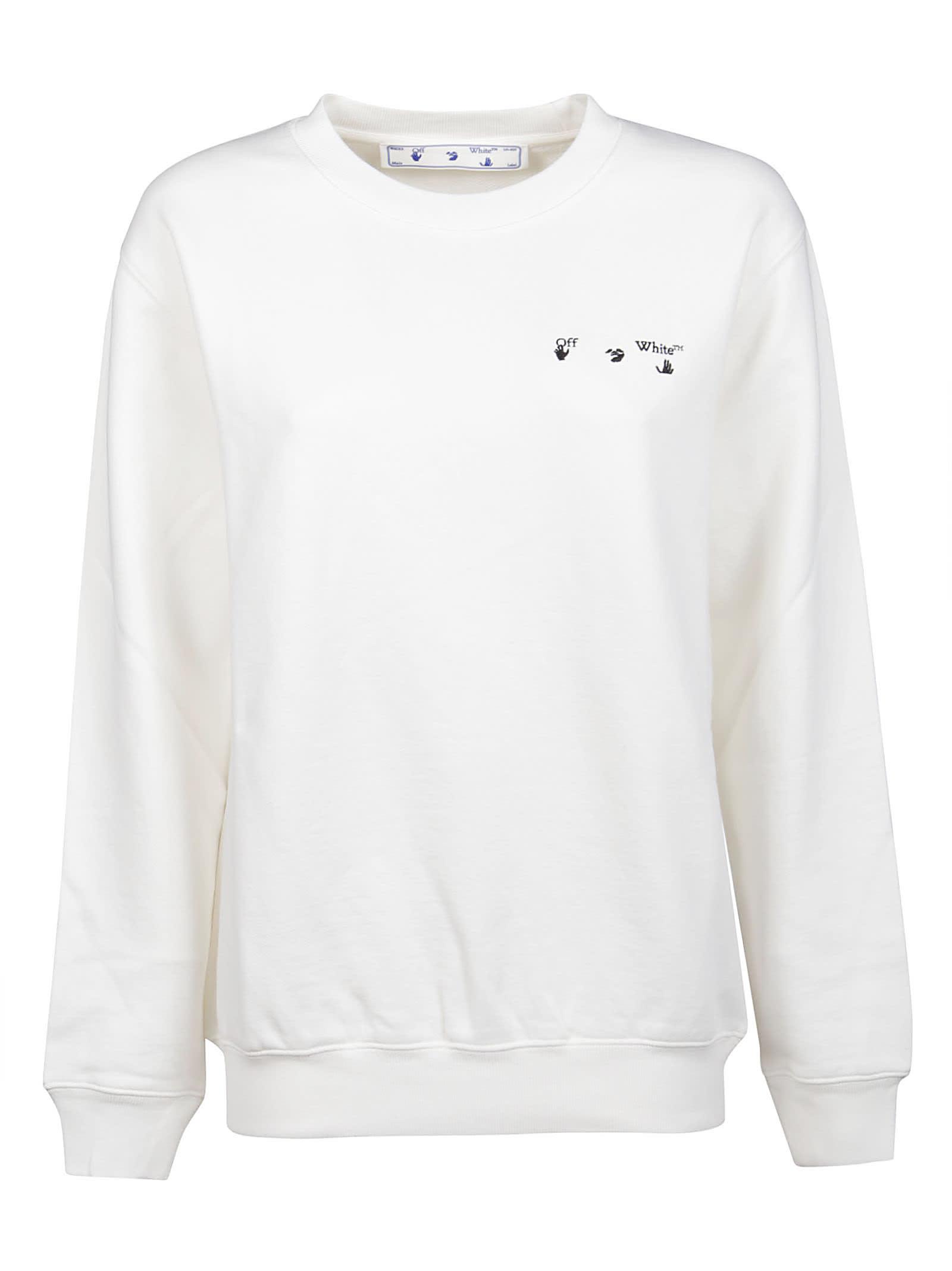 Off-White Sweatshirt Arrow Liquid Metal