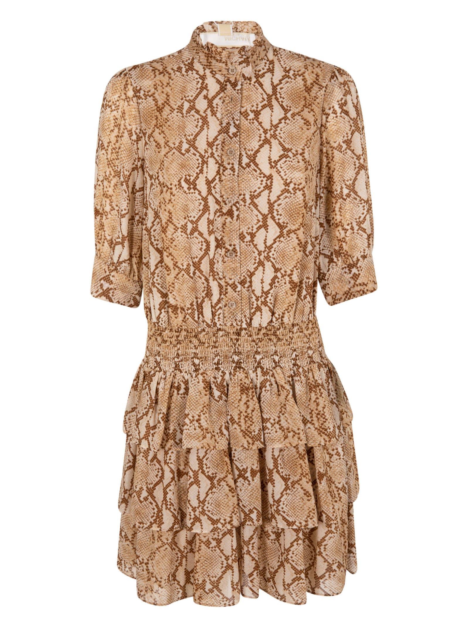 Buy Michael Kors Snake Print Dress online, shop Michael Kors with free shipping