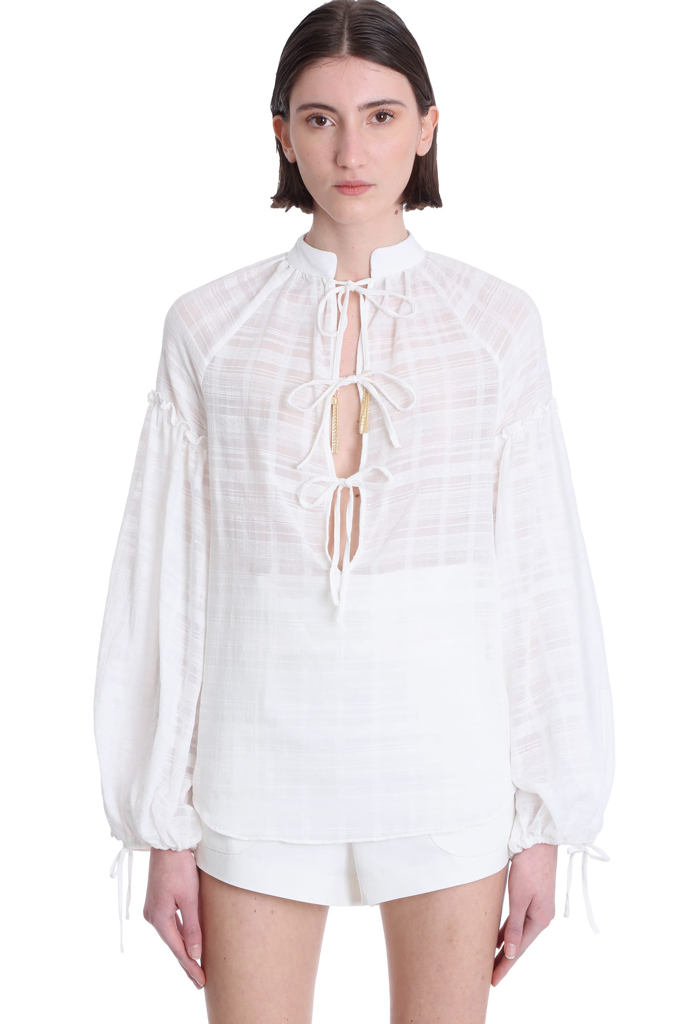 Wandering Blouses BLOUSE IN WHITE COTTON