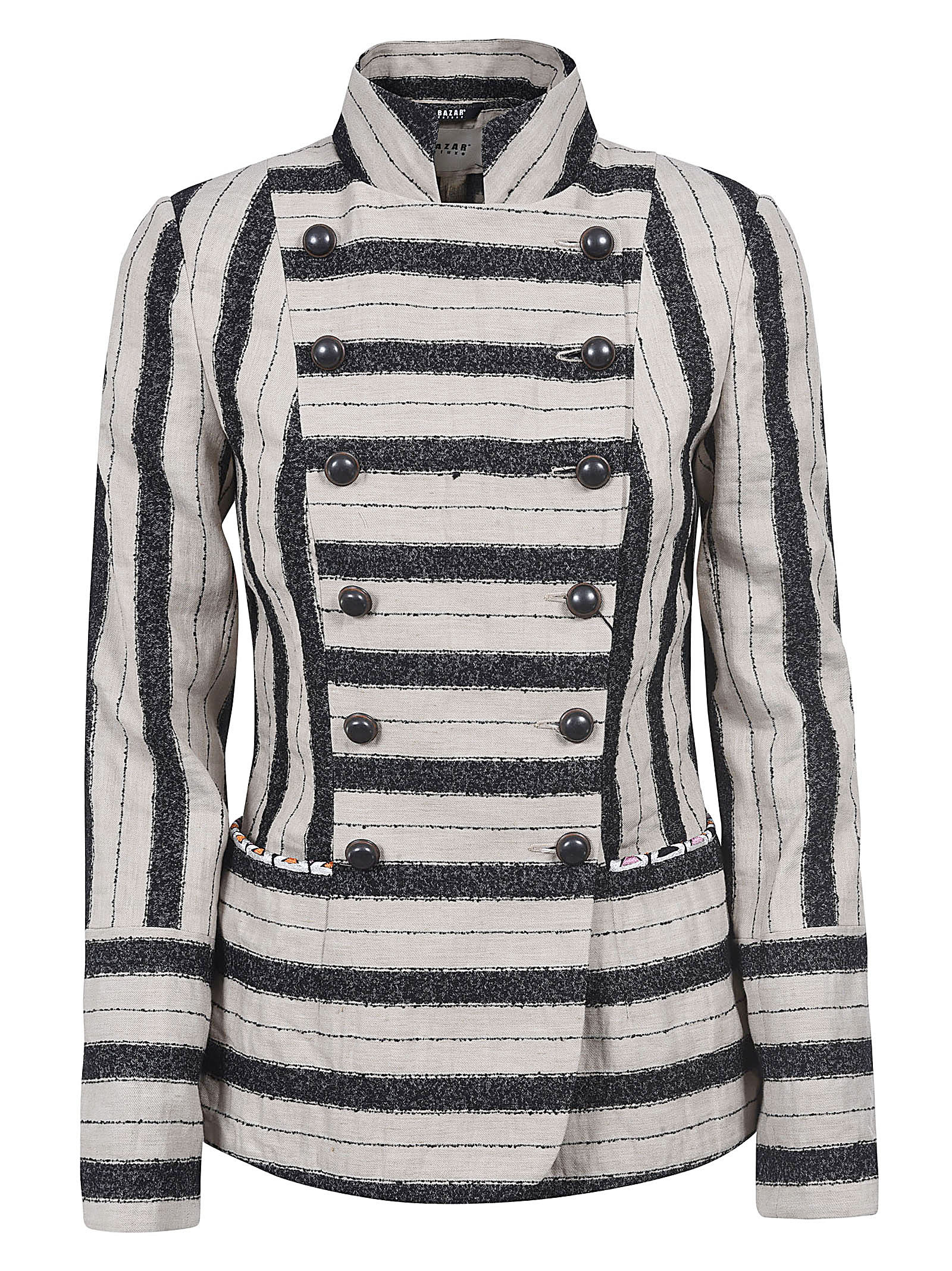 Bazar Deluxe Double-breasted Stripe Patterned Jacket