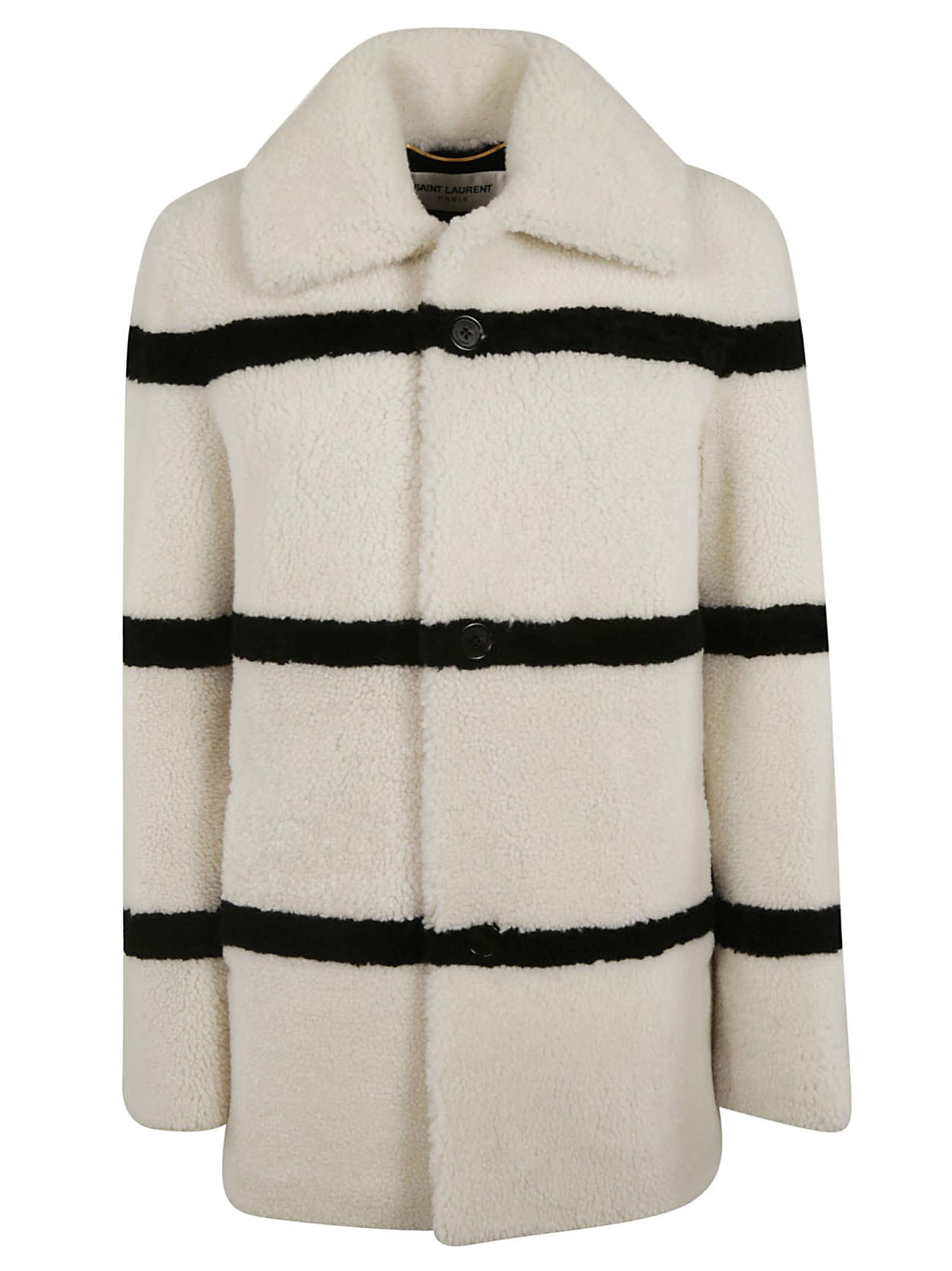 Saint Laurent Striped Coat
